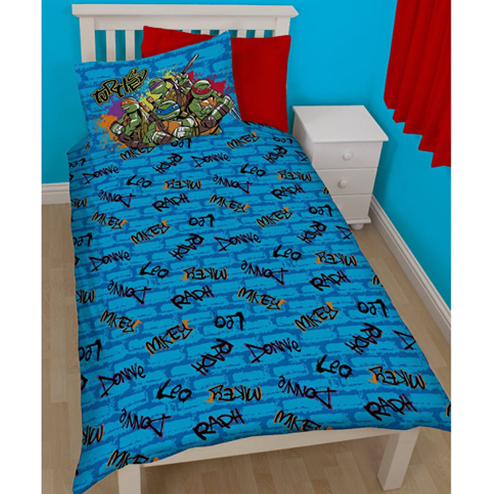 teenage mutant ninja turtles bettw sche einzel sets jungen schlafzimmer ebay. Black Bedroom Furniture Sets. Home Design Ideas