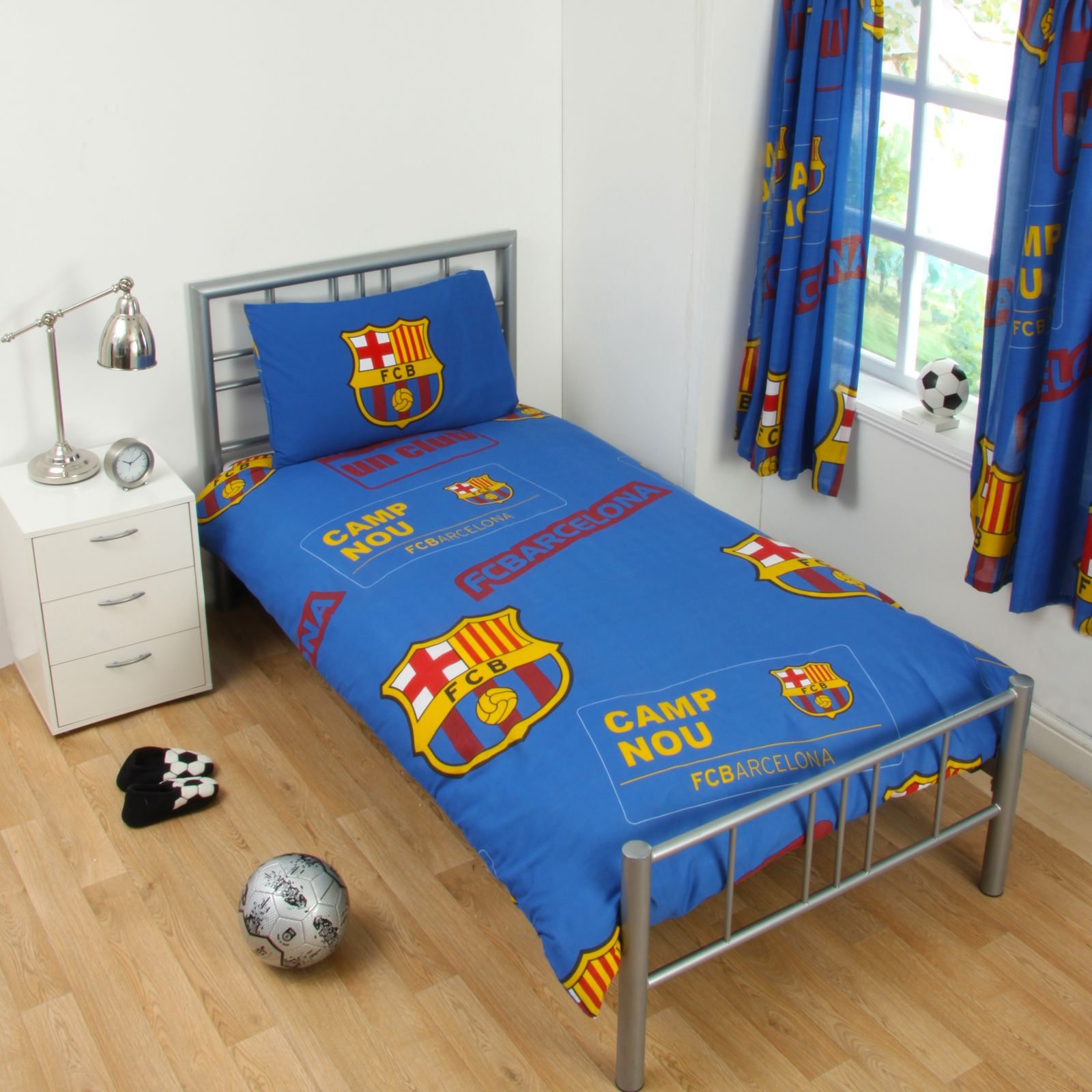 Single and double fc duvet cover bedding sets official for Chambre barcelona