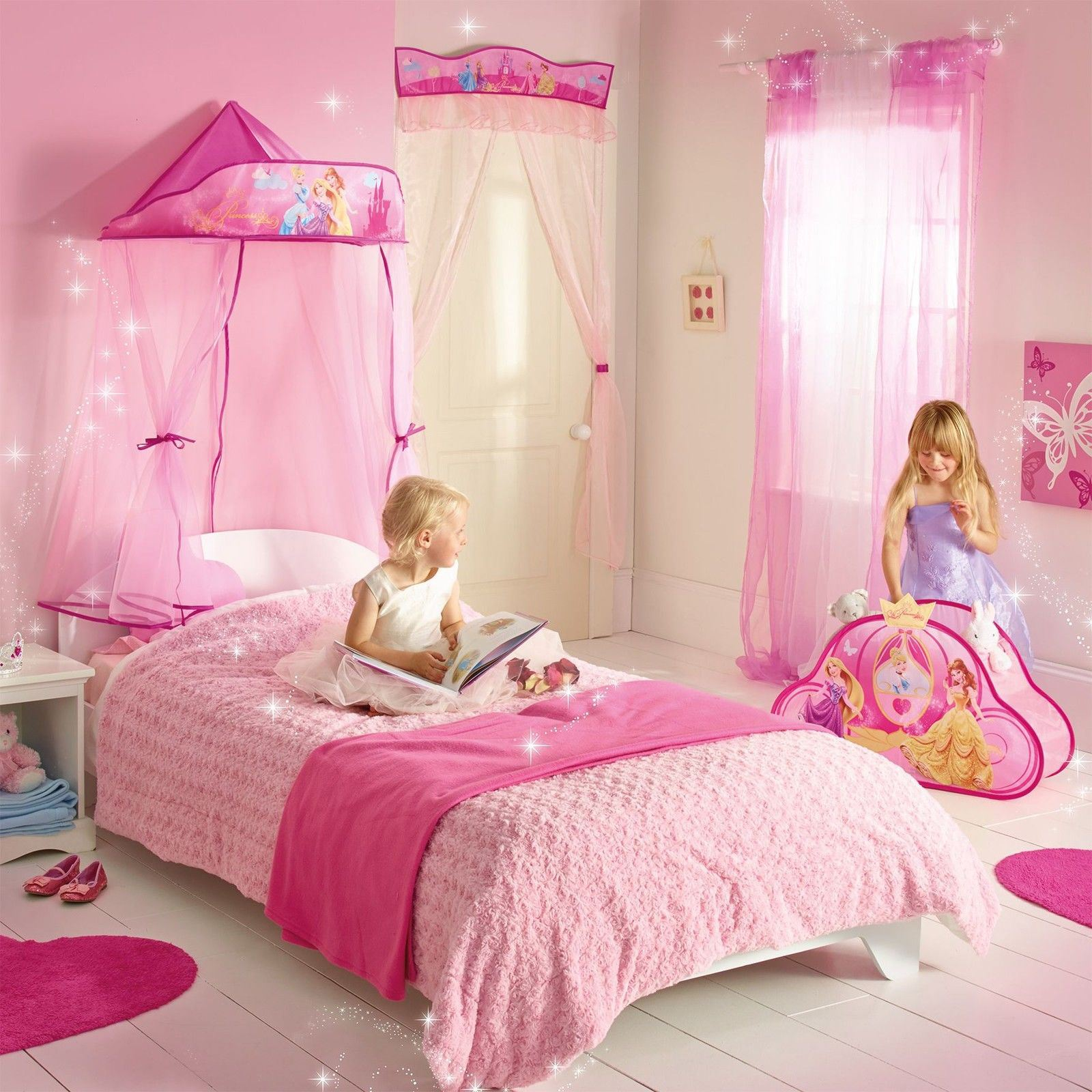 Disney princess hanging bed canopy new girls bedroom decor for Princess bedroom decor
