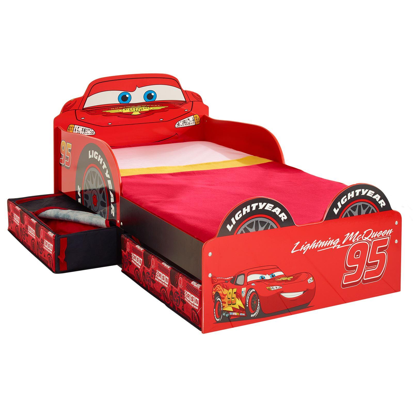 disney cars lightning mcqueen mdf toddler bed with storage. Black Bedroom Furniture Sets. Home Design Ideas