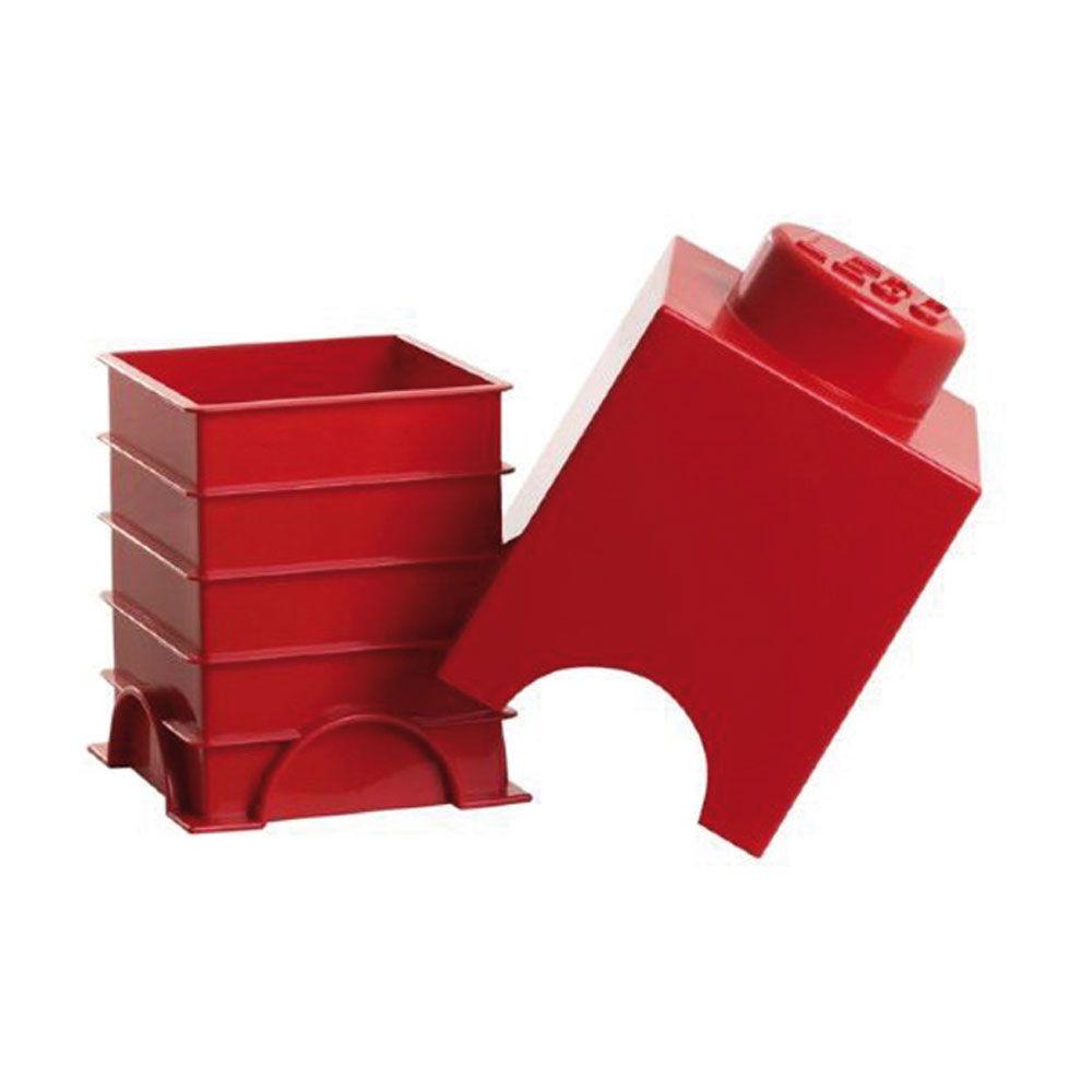 lego aufbewahrungs ziegel 1 rot aufbewahrungsschachtel kinder spielzeug ebay. Black Bedroom Furniture Sets. Home Design Ideas