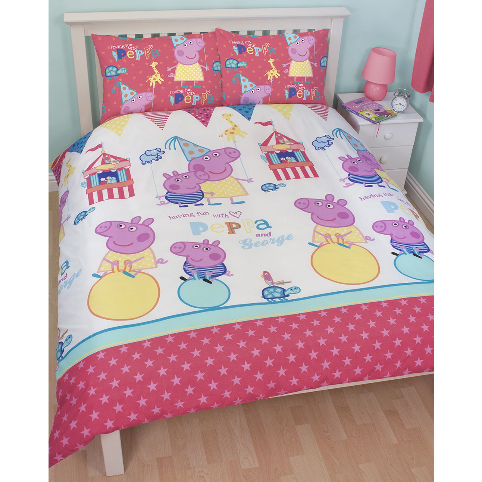 Peppa cochon f te foraine chambre gamme housse couette for Literie couette