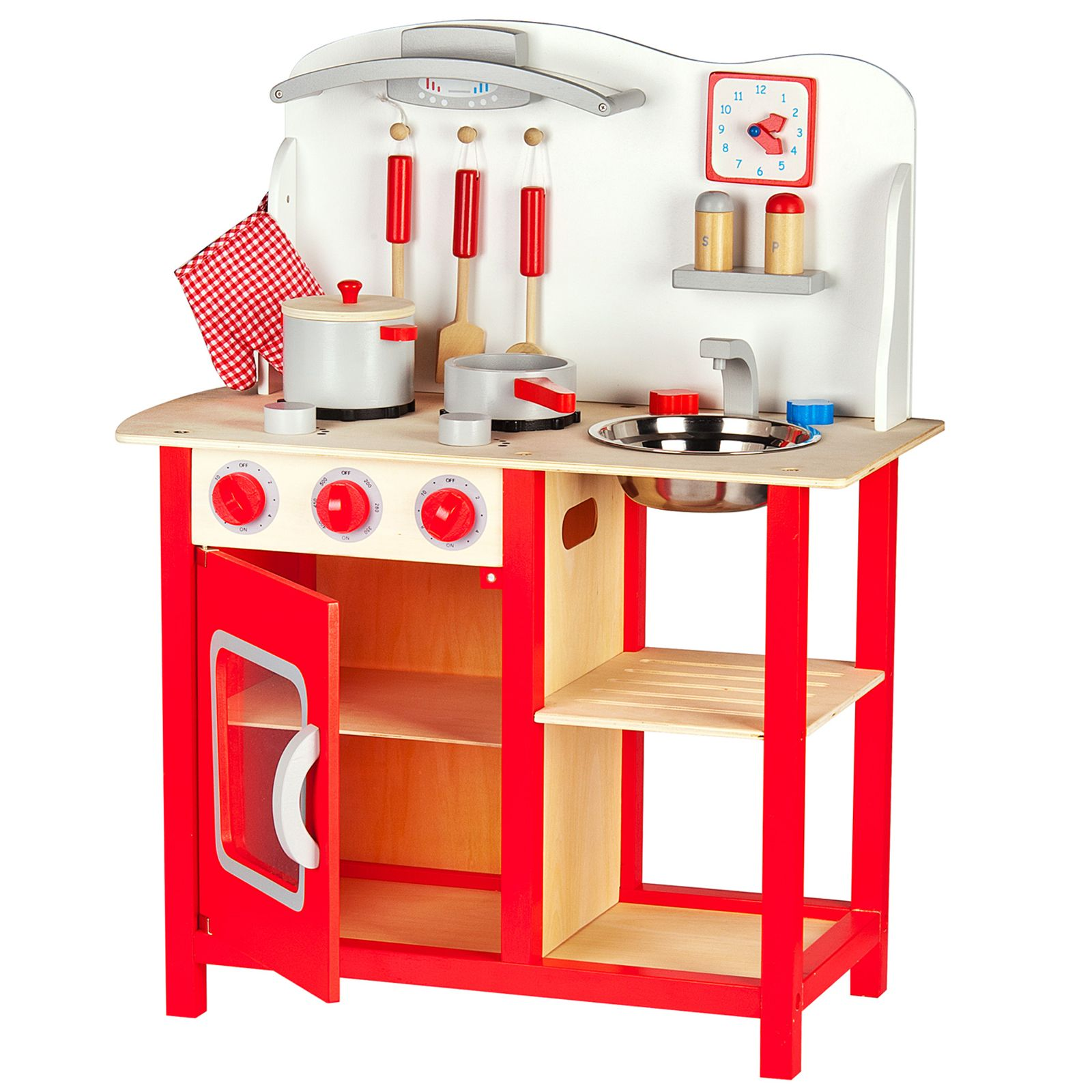 Wooden Kitchen Accessories ~ Leomark wooden kitchen childrens play with