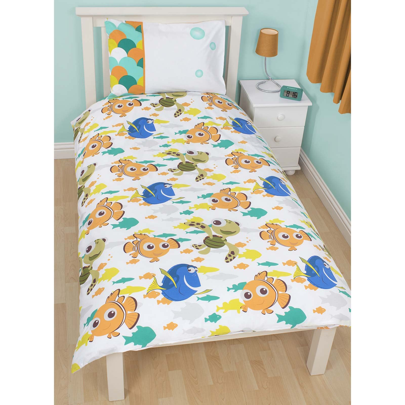 Details about disney finding nemo single duvet cover set 2 in 1 new
