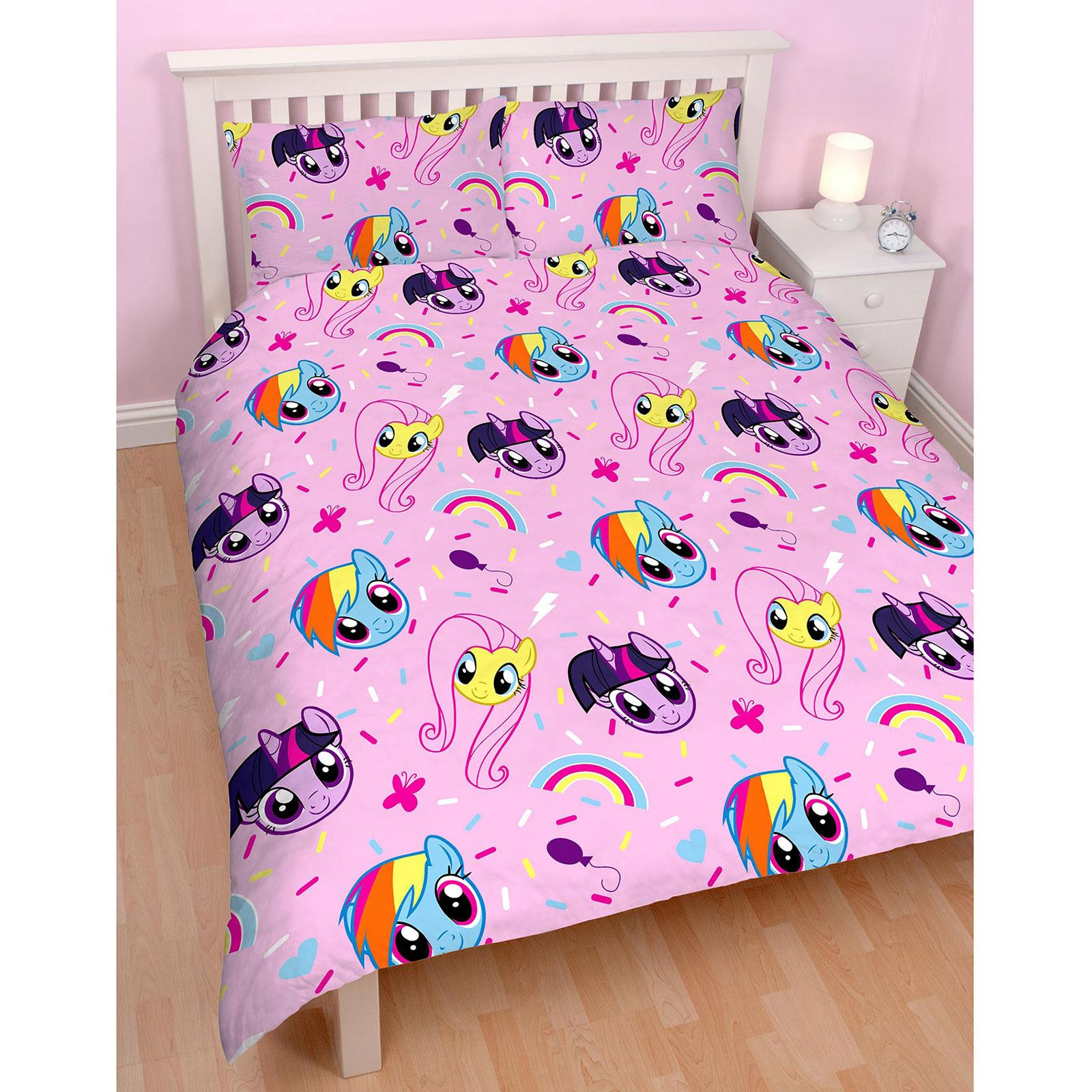 my little pony equestria double duvet cover set kids. Black Bedroom Furniture Sets. Home Design Ideas