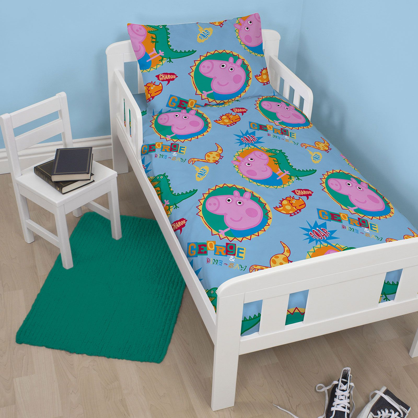 peppa pig and george bedding single double junior. Black Bedroom Furniture Sets. Home Design Ideas
