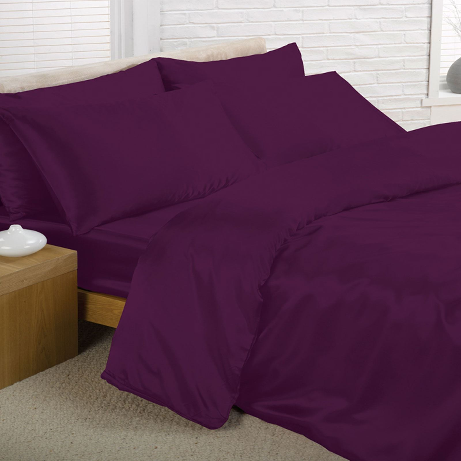 Satin bedding sets duvet cover fitted sheet for Housse couette satin