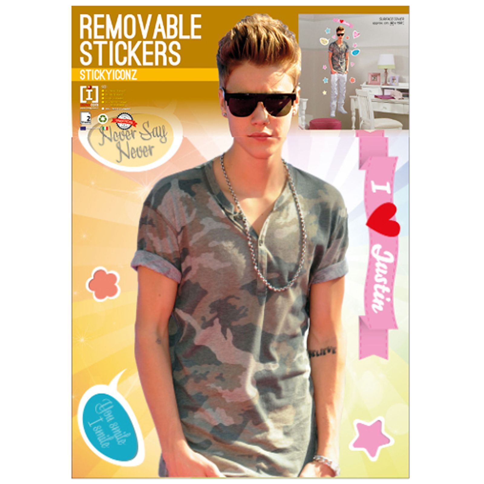 Baby Bedroom Decor Justin Bieber Bedroom Wallpaper Bedroom Design Bed Bedroom Design Modern Classic: Justin Bieber X Large Wall Stickers NEW Room Decor Kids