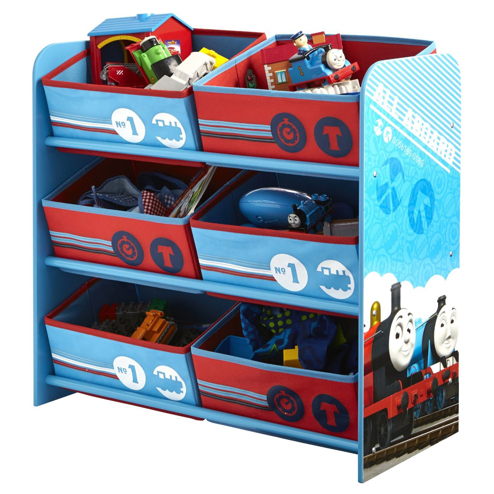 details about thomas friends 6 bin storage bedroom furniture tank
