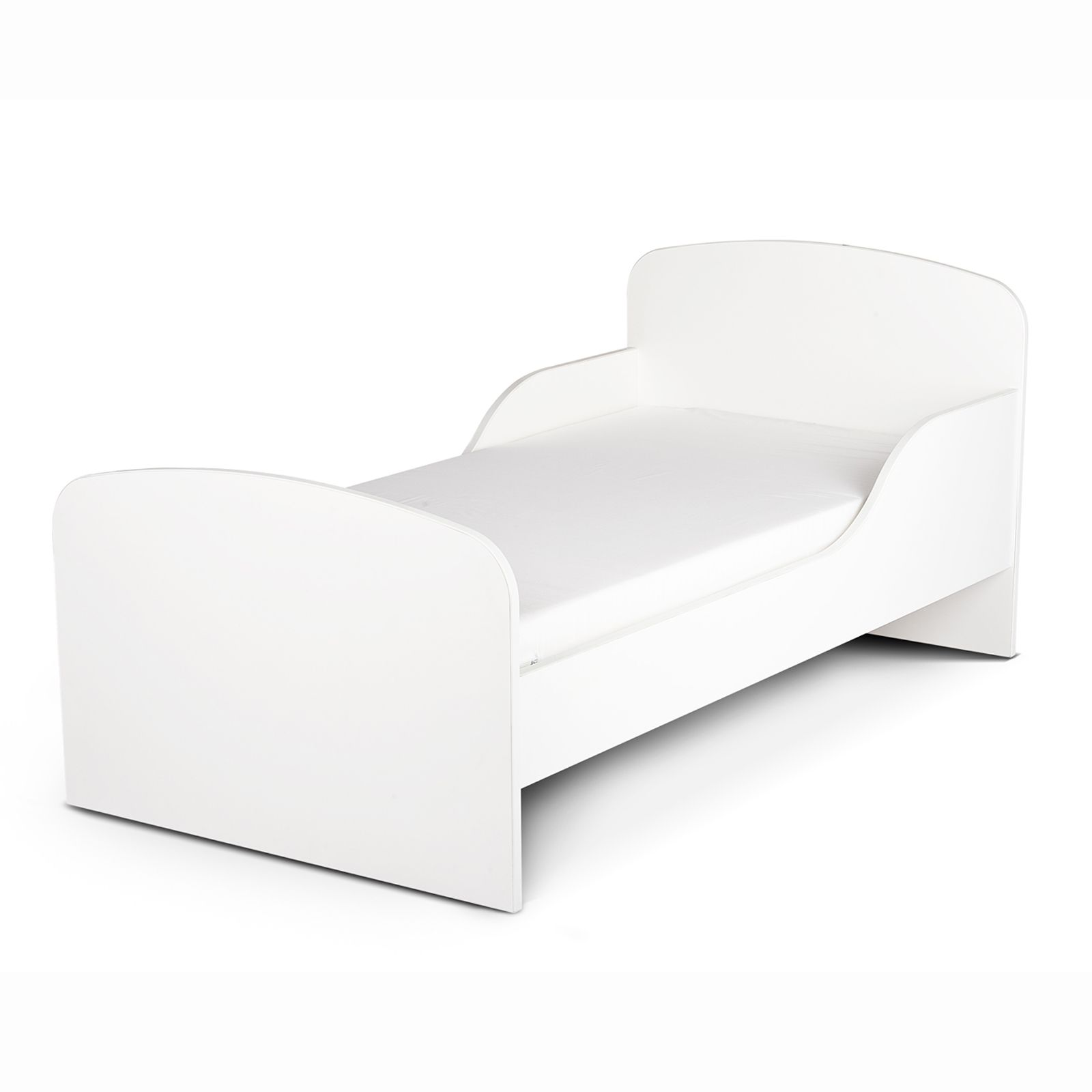 PLAIN WHITE MDF TODDLER BED NEW KIDS BEDROOM