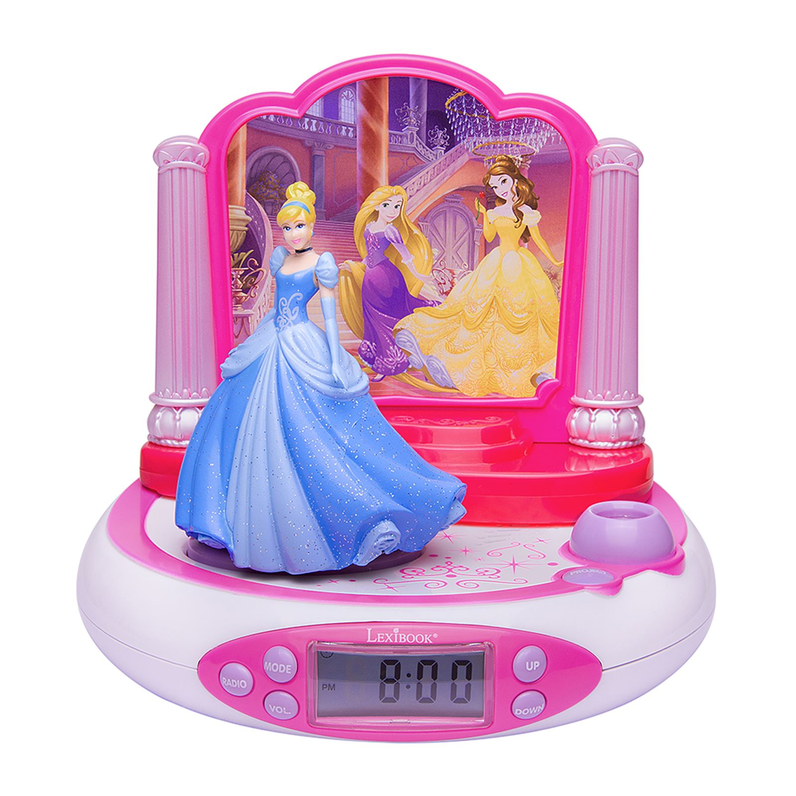 disney princess projector alarm clock radio 100 official kids new ebay. Black Bedroom Furniture Sets. Home Design Ideas