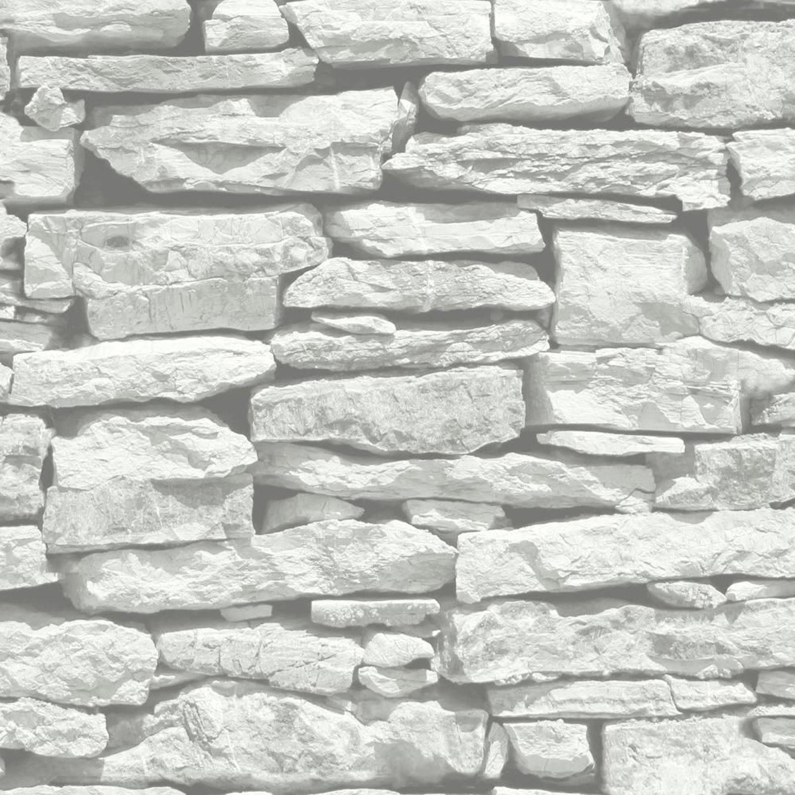 Marocain mur blanc ardoise papier peint arthouse 623009 - Papier peint pierre blanche ...