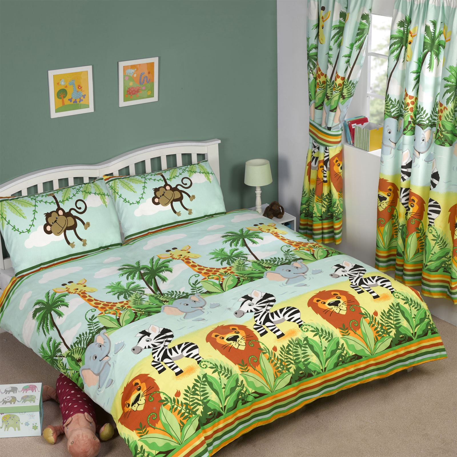 Jungle tastic gamma camera da letto ragazzi single doppio for Camera letto jungle
