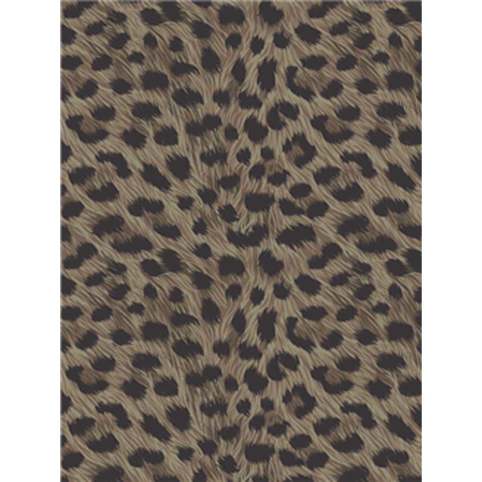 leoparden druck tapete schokobraun zinn wandtapete gesamtes zimmer deko ebay. Black Bedroom Furniture Sets. Home Design Ideas