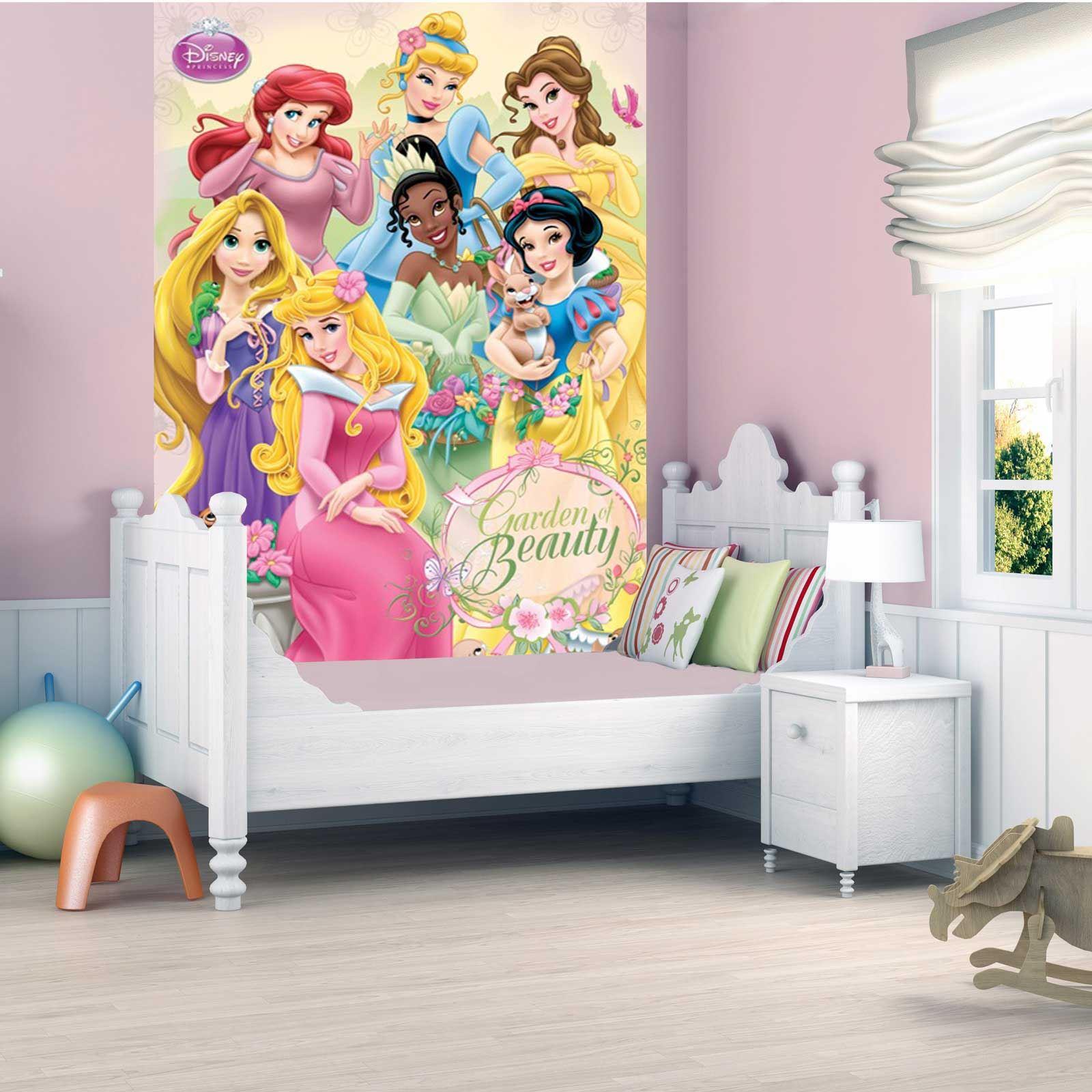 Disney princess papel pintado pared mural 232cm x 158cm for Papel mural para dormitorio