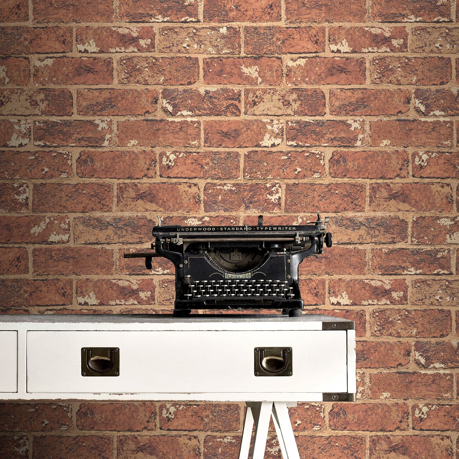 rasch fine decor 10m luxury brick effect wallpaper stone wall grey black red ebay. Black Bedroom Furniture Sets. Home Design Ideas