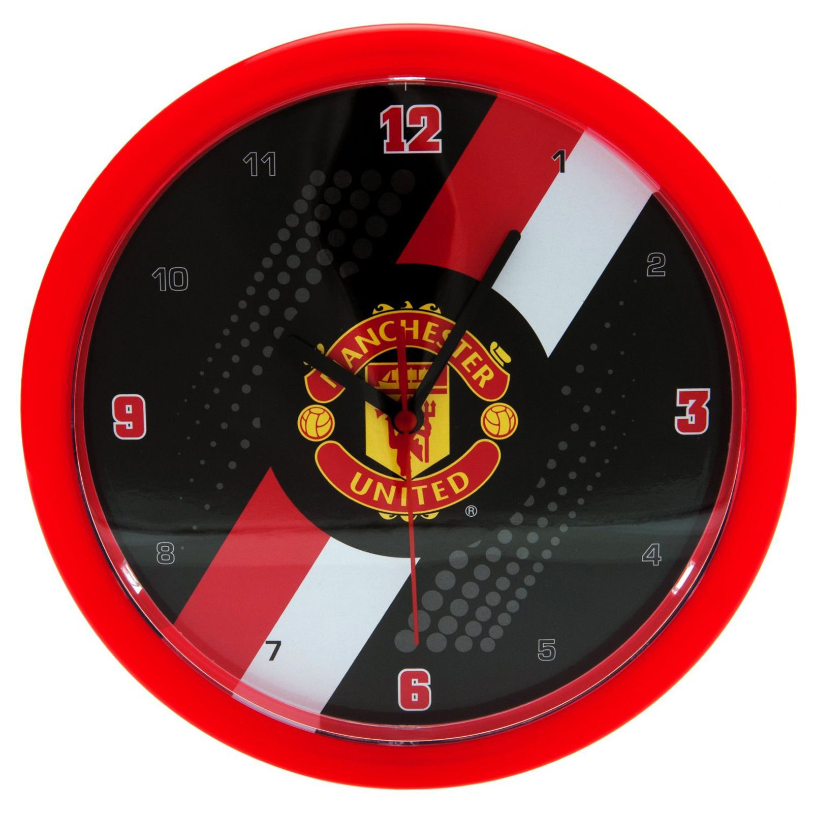 Manchester united fc wall clock new official football ebay for Man u bedroom accessories