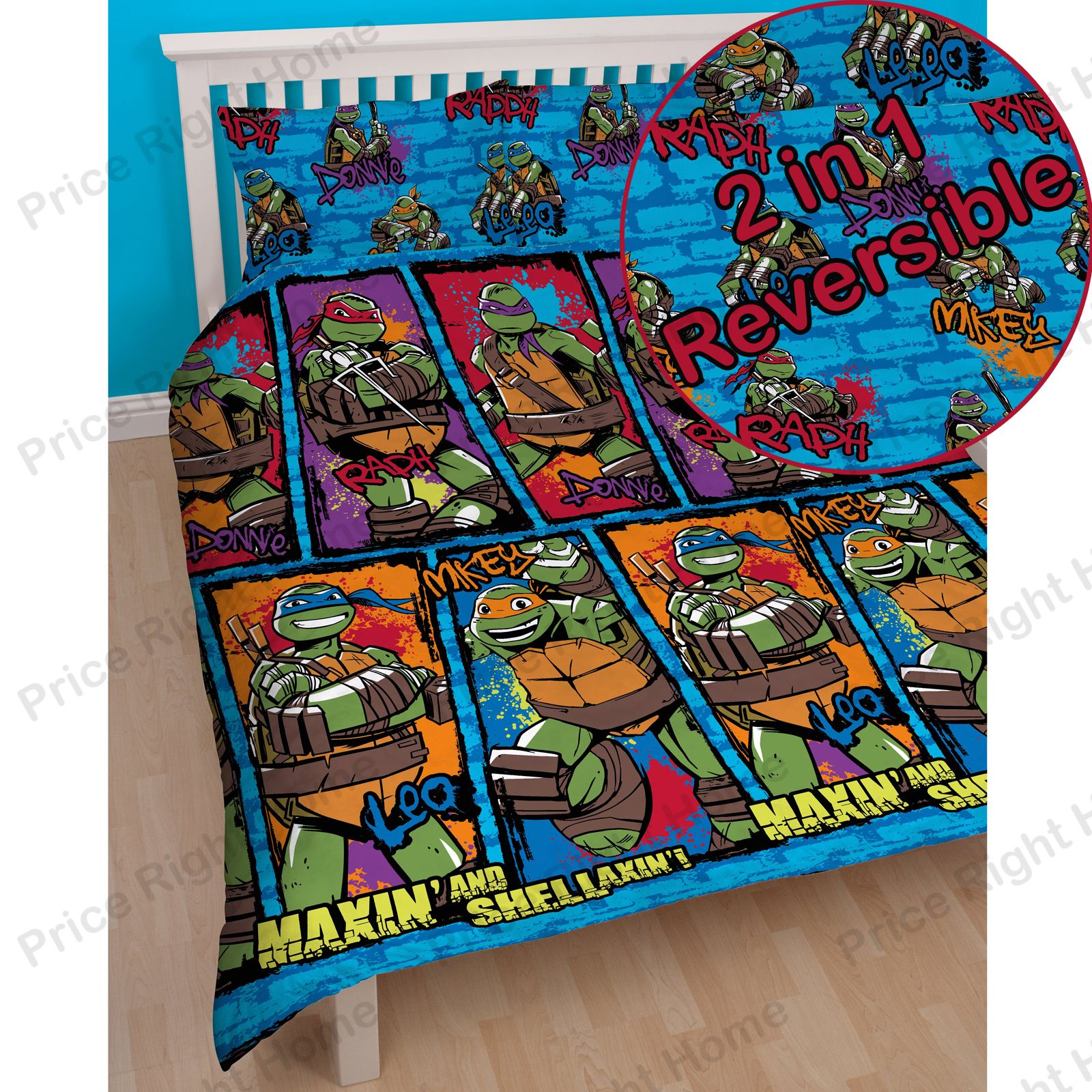 teenage mutant ninja turtles bettw sche einzel sets jungen. Black Bedroom Furniture Sets. Home Design Ideas