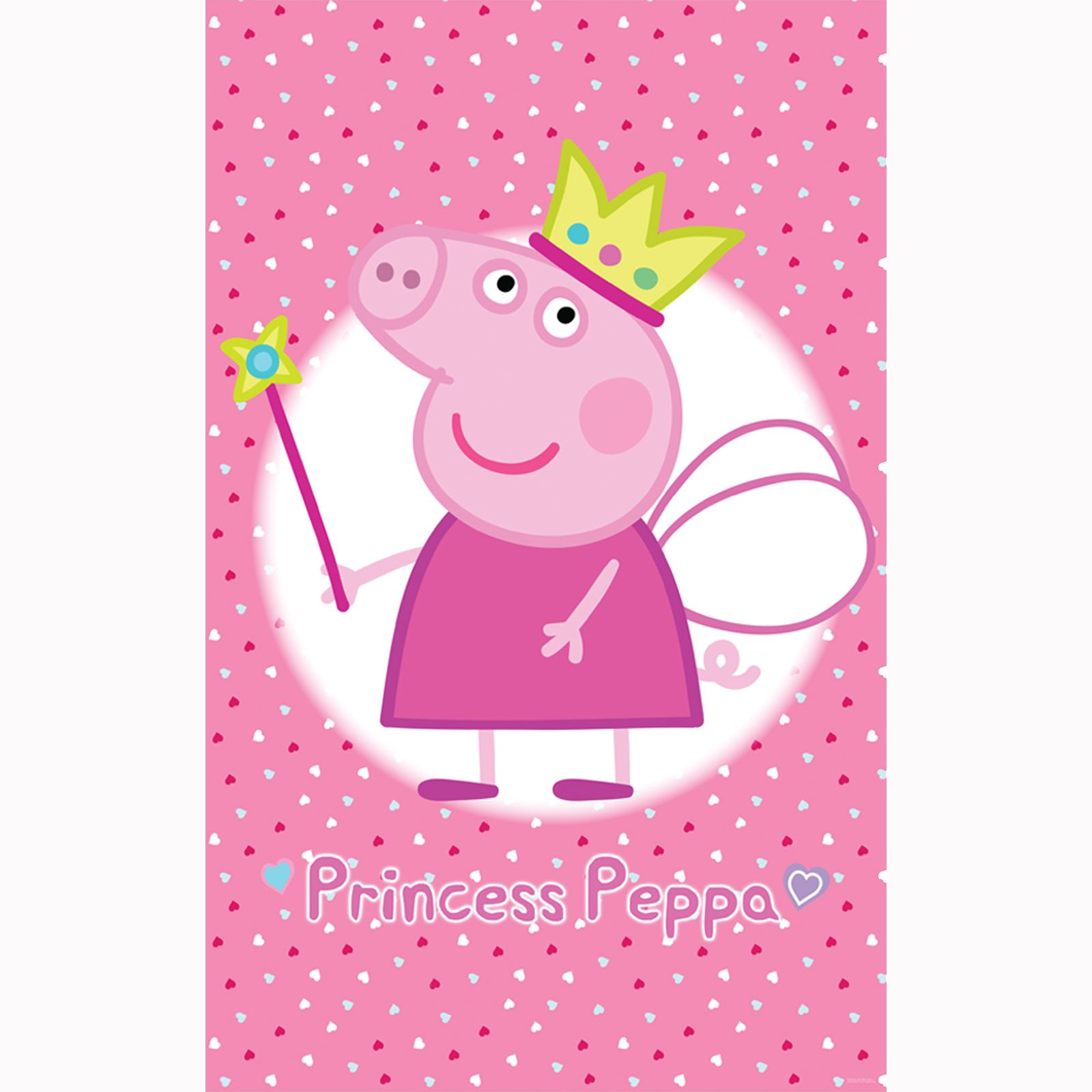 PEPPA PIG PRINCESS WALLPAPER WALL MURAL 2.44m x 1.52m by WALLTASTIC ...