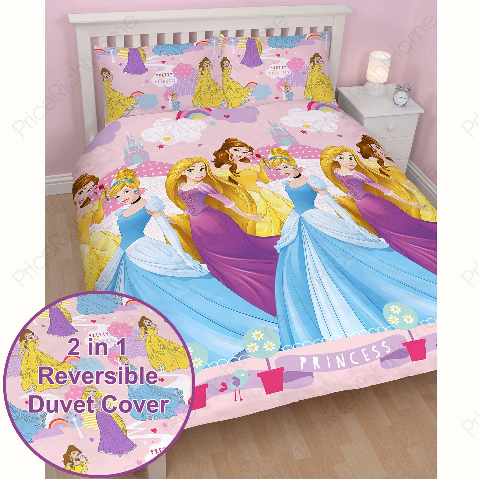 Kids disney and character double duvet covers children 39 s bedding sets ebay - Biancheria letto disney ...