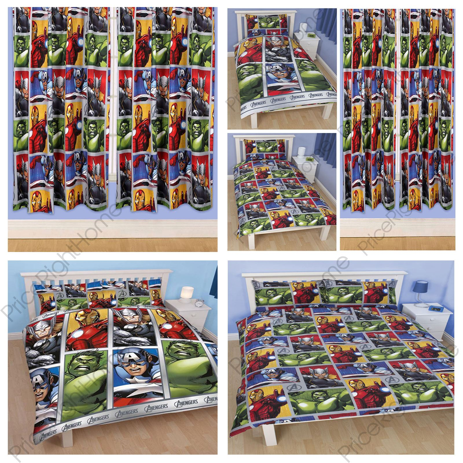 Avengers bedding and curtains