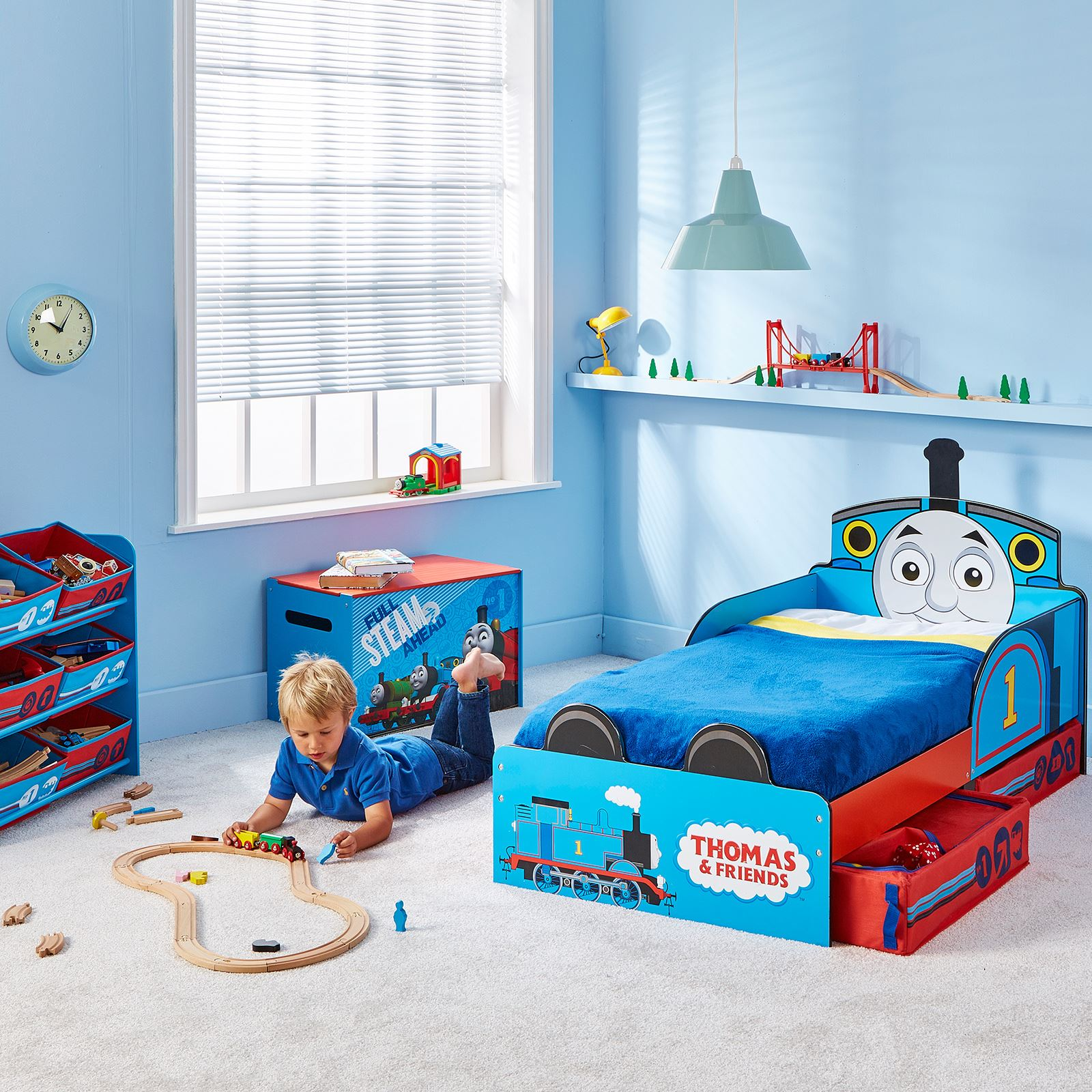 Thomas And Friends Furniture #26: THOMAS U0026amp; FRIENDS MDF TODDLER BED WITH STORAGE NEW TANK ENGINE BOYS