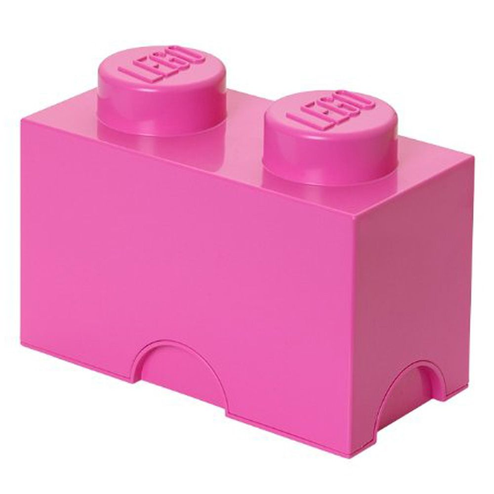 Details about large lego storage block brick new pink official 2