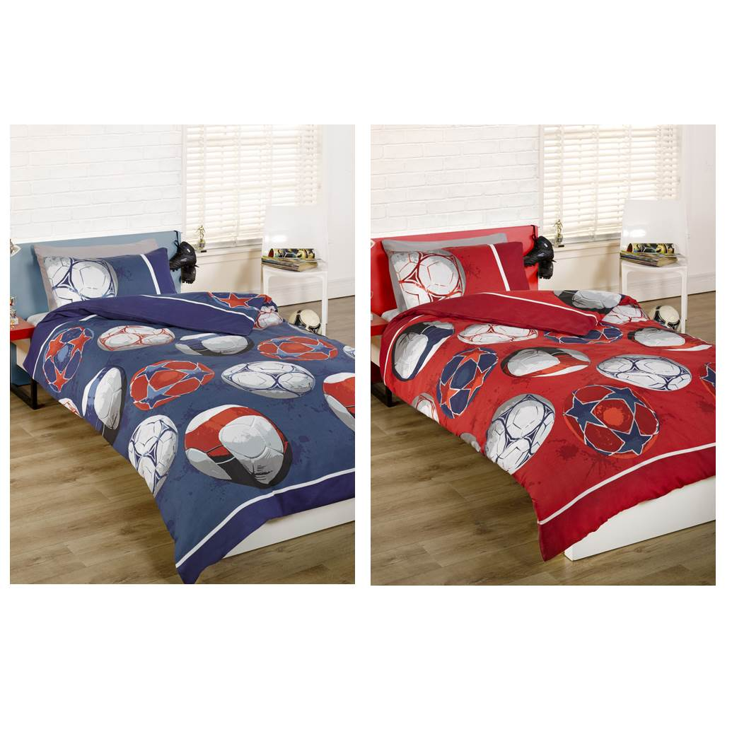 fu ball einzel bettw sche set jungen kinder sport rot ebay. Black Bedroom Furniture Sets. Home Design Ideas