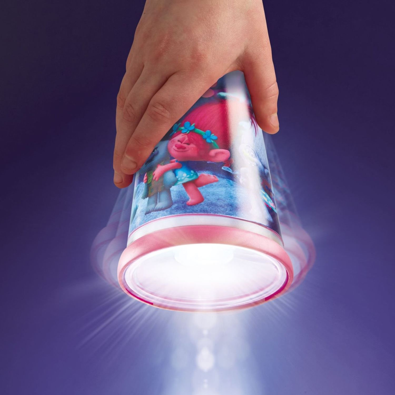 How to control lighting with curtains for boys bedroom kids bedroom - Trolls Go Glow Night Beam Tilt Torch Light Kids Bedroom