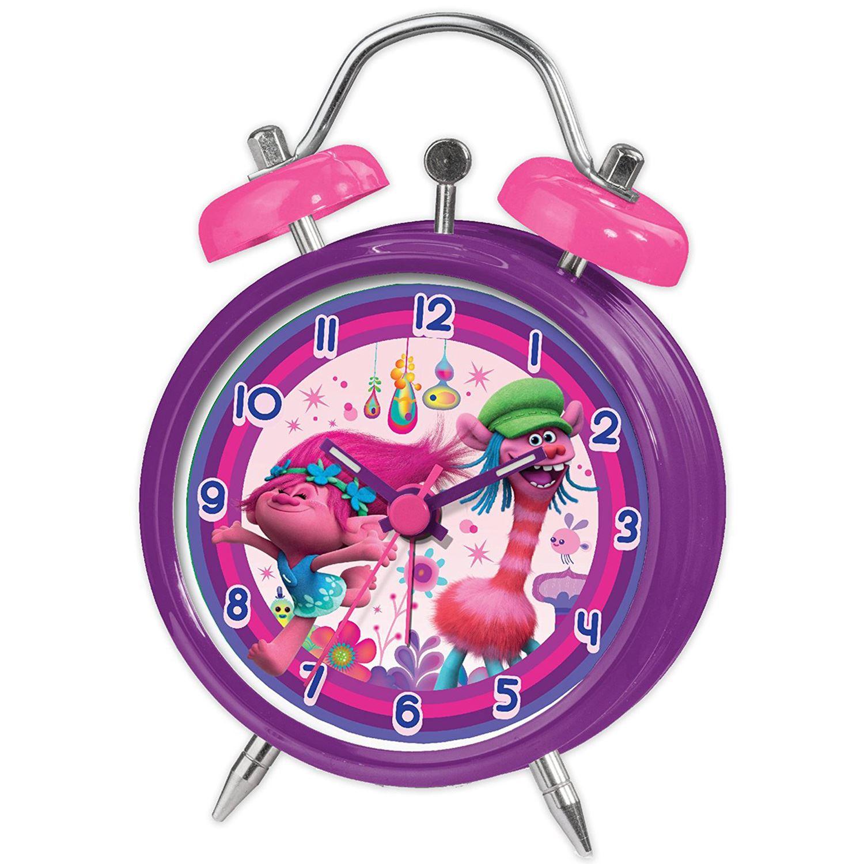 Trolls mini twinbell alarm clock poppy and cooper for Kids room clock