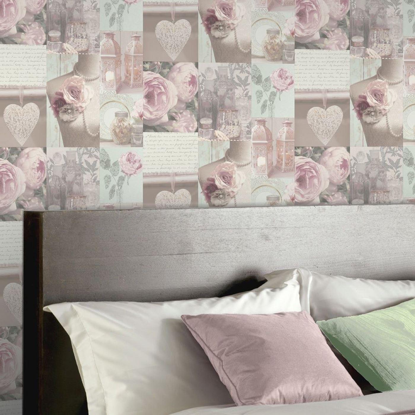 charlotte floral wallpaper blush arthouse 665200 new. Black Bedroom Furniture Sets. Home Design Ideas