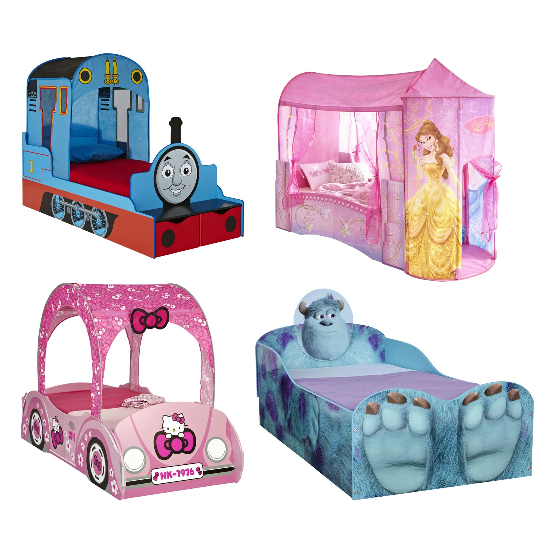 Cartoon Character Beds For Toddlers