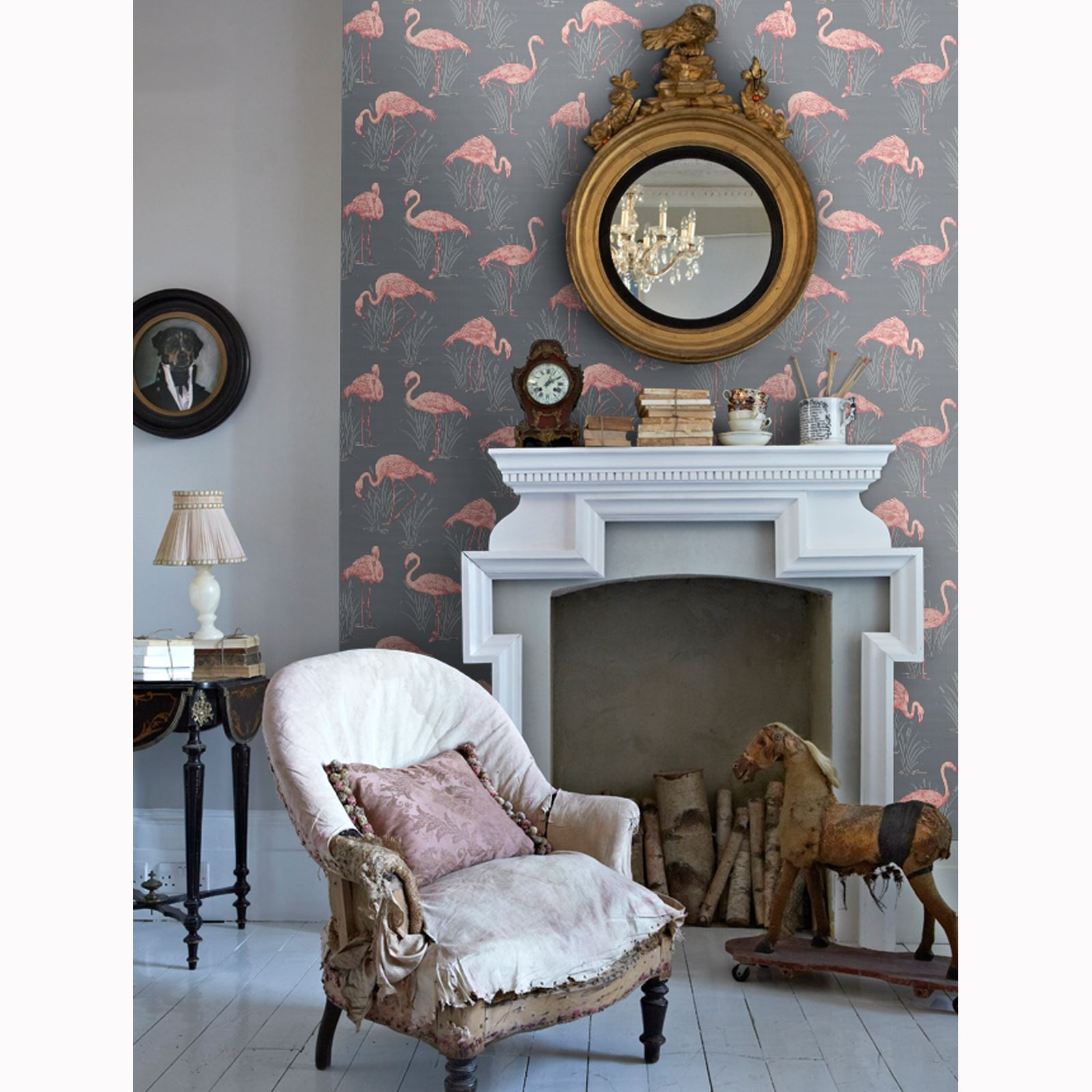 lagune vintage flamant rose papier peint vert rose 252602 gris corail 252603 ebay. Black Bedroom Furniture Sets. Home Design Ideas