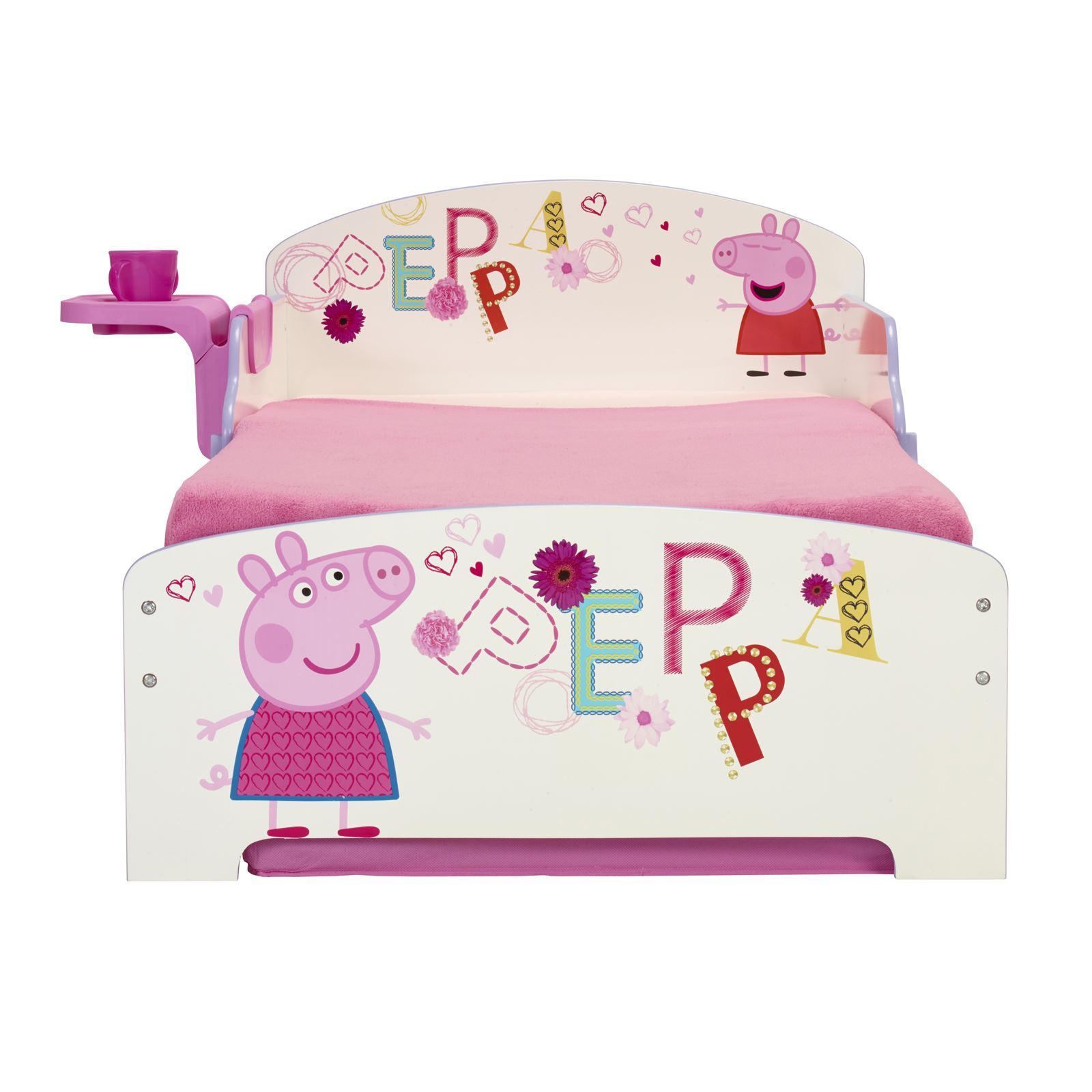 PEPPA PIG MDF TODDLER BED WITH SHELF & STORAGE + DELUXE ...