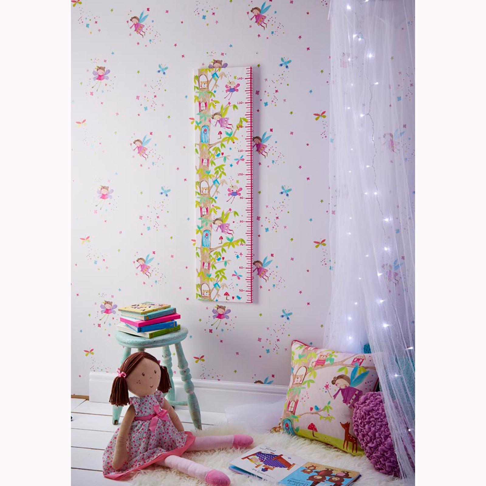 Arthouse glitter detail kids girls bedroom wallpaper for Glitter wallpaper for bedroom