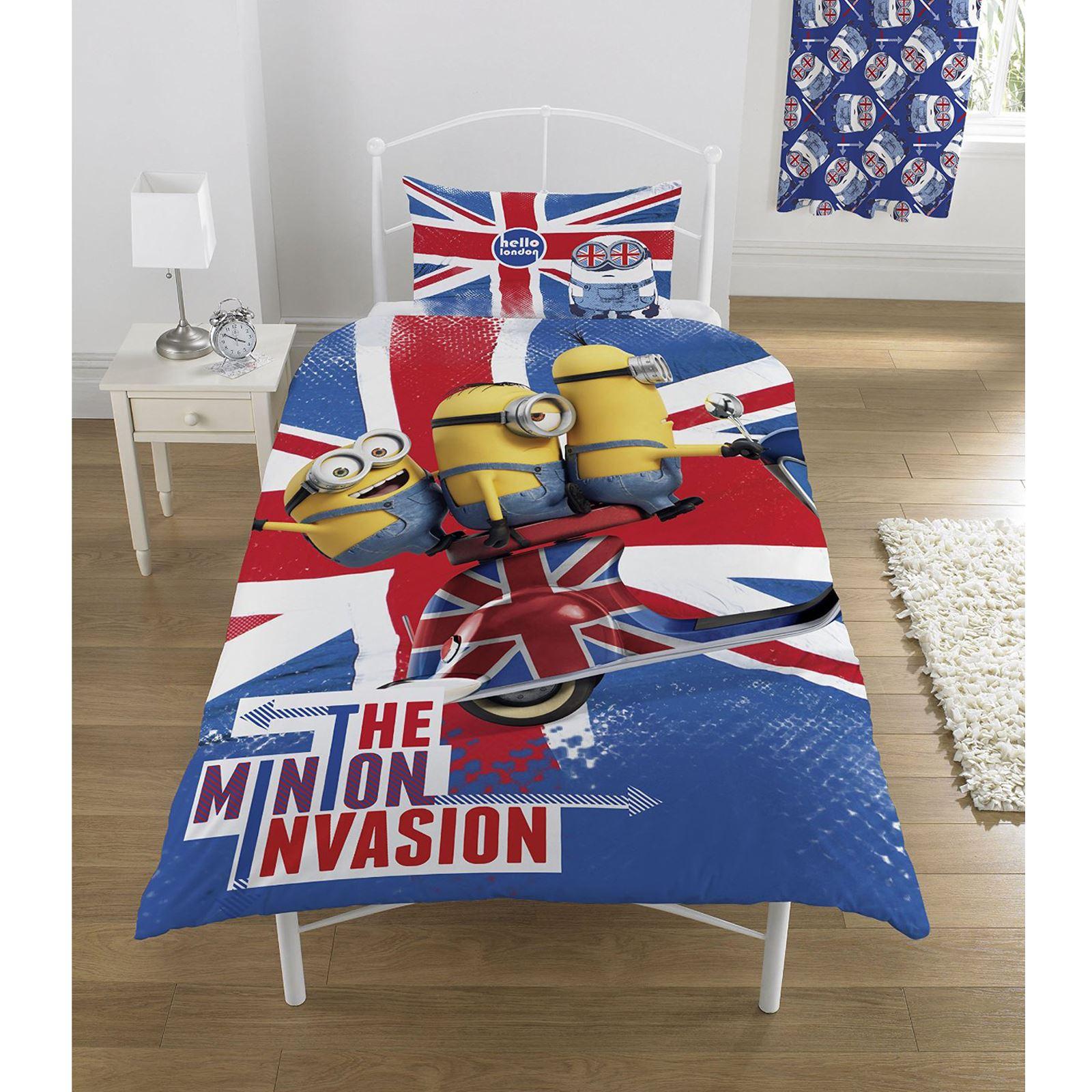 despicable me minions invasion union jack duvet cover set