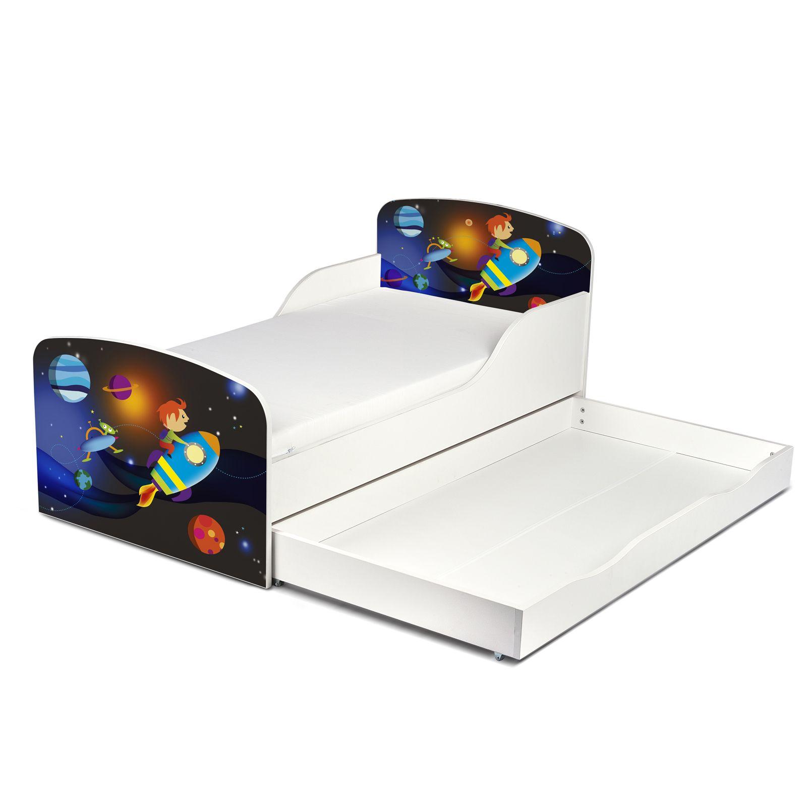 raum rakete mdf kleinkind bett mit unterbett aufbewahrungs matratze ebay. Black Bedroom Furniture Sets. Home Design Ideas