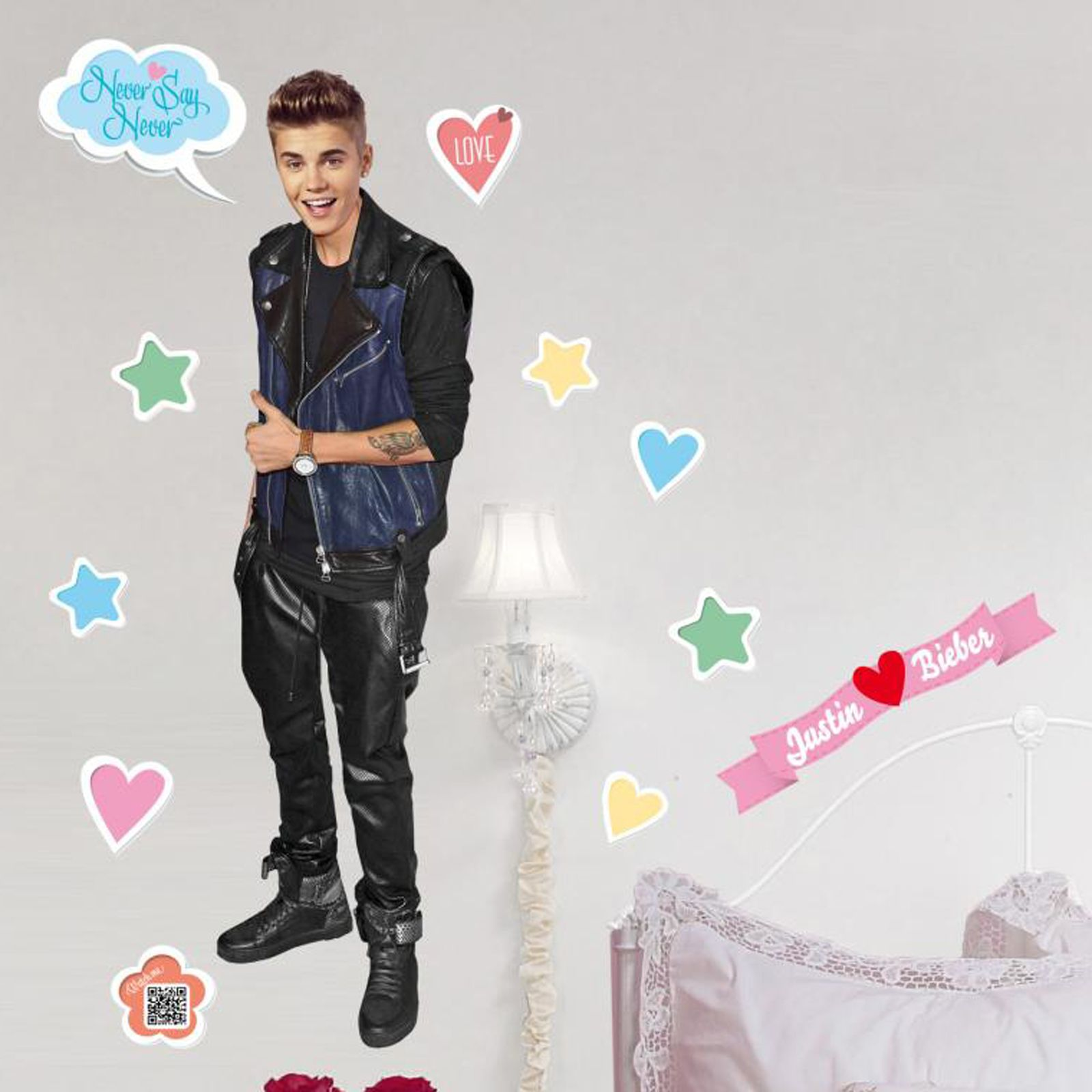 Baby Bedroom Decor Justin Bieber Bedroom Wallpaper Bedroom Design Bed Bedroom Design Modern Classic: JUSTIN BIEBER LARGE WALL STICKERS NEW GIANT ROOM DECOR