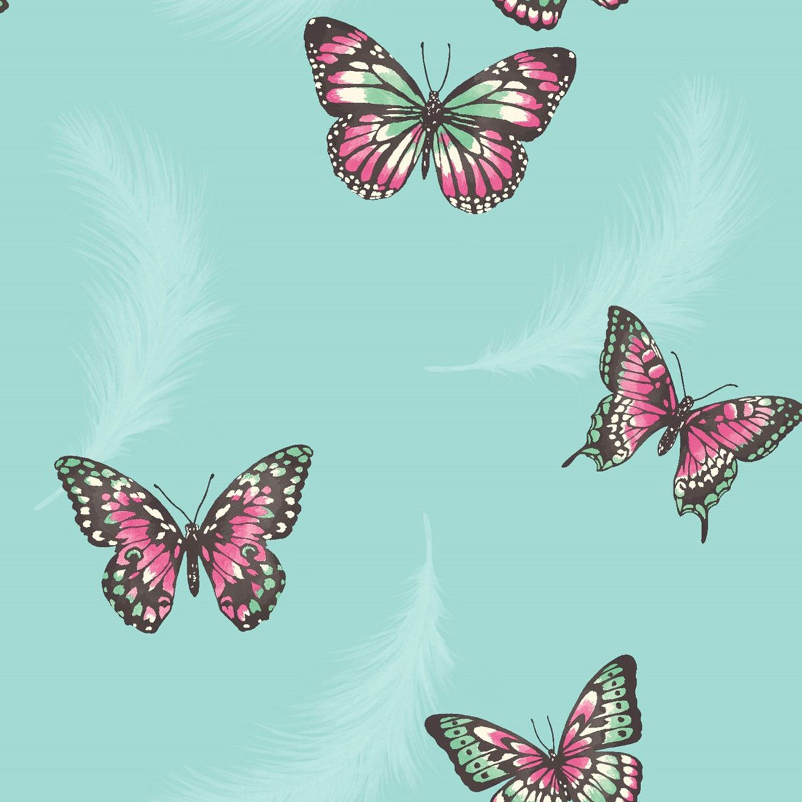 Butterflies Wallpaper Available In Cream Grey Teal