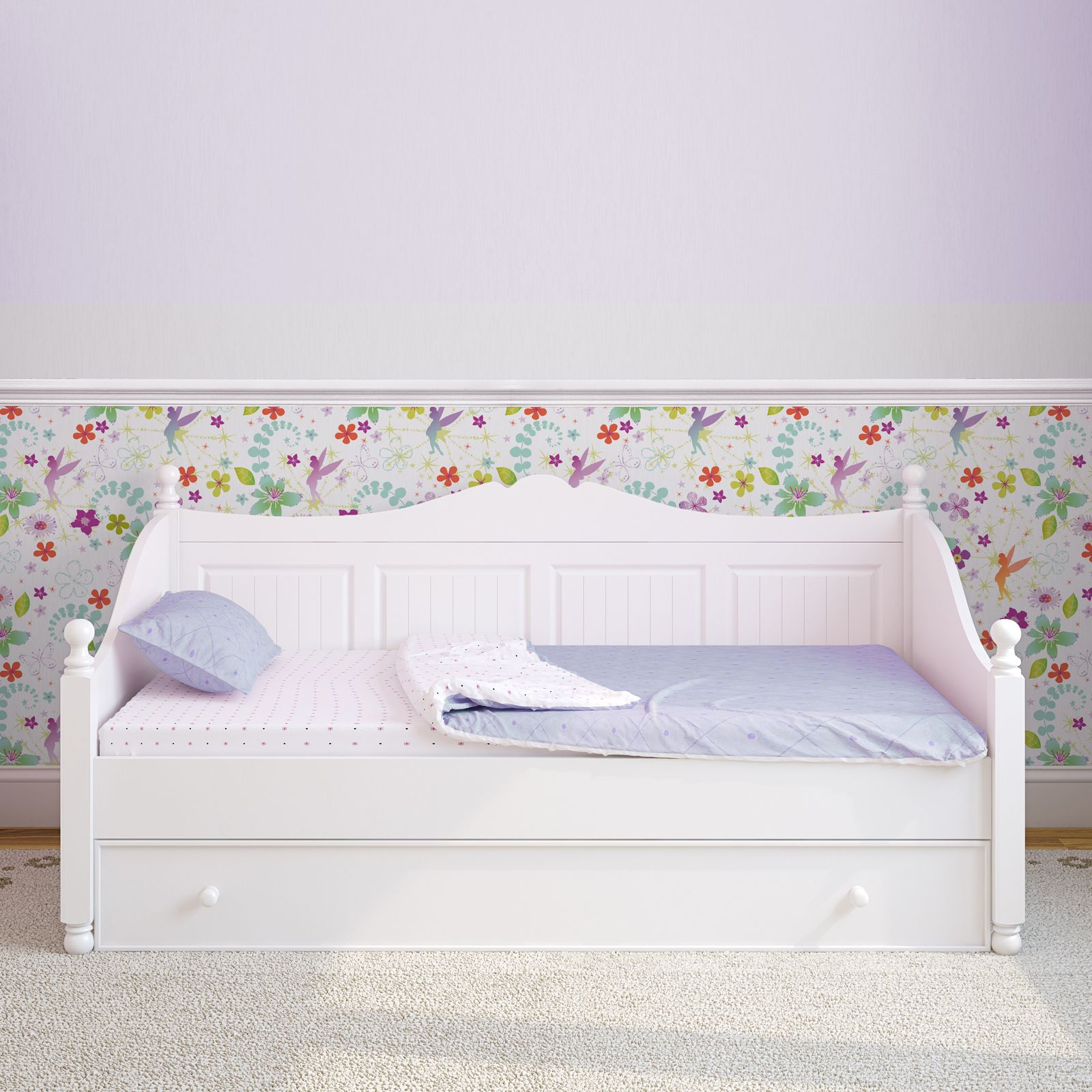 Official disney fairies tink wallpaper and borders for Disney fairies bedroom ideas