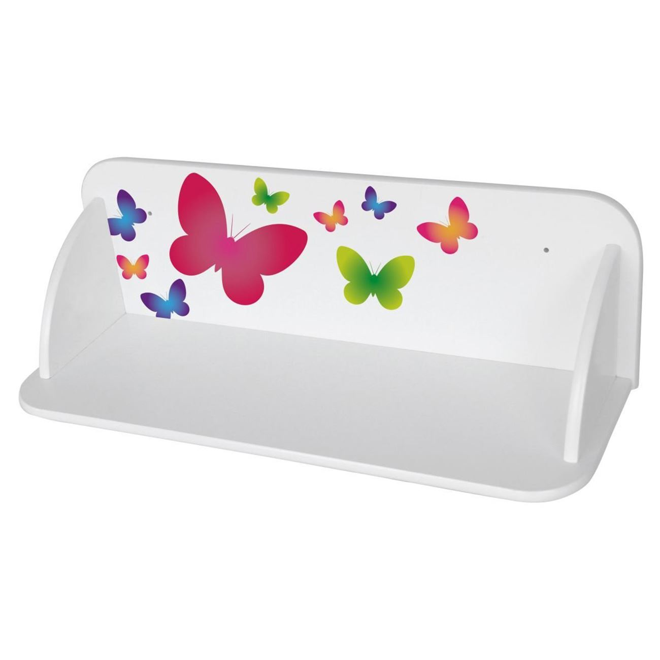 BUTTERFLIES WOODEN WALL MOUNTED BOOKSHELF CHILDRENS ROOM SHELF STORAGE