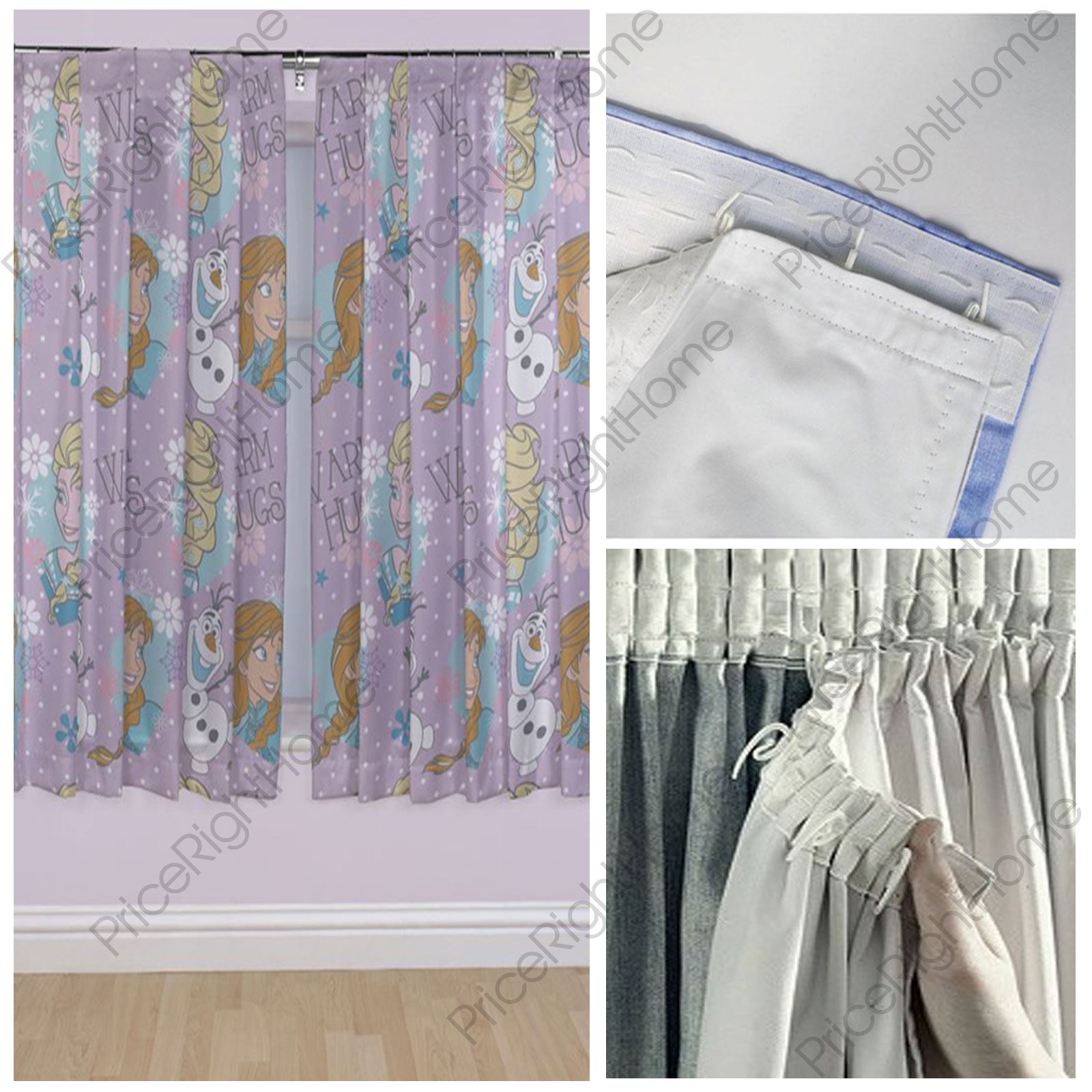 DISNEY FROZEN CRYSTAL CURTAINS, 2 DROP LENGTHS, CURTAIN
