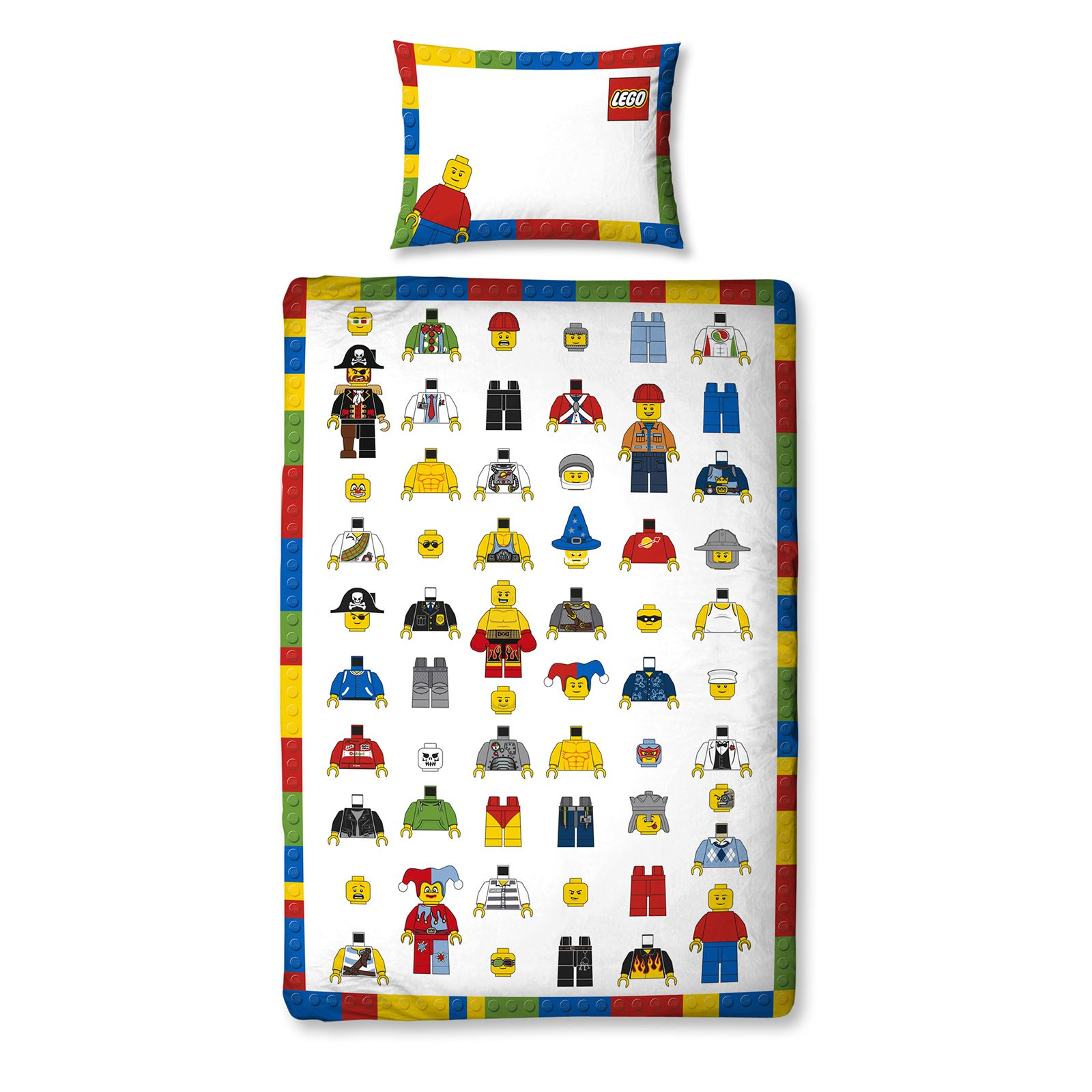 Lego Classic Minifigures Single Duvet Cover Set Panel