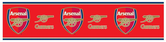 Arsenal wallpaper border new 5m official room decor ebay for Arsenal mural wallpaper