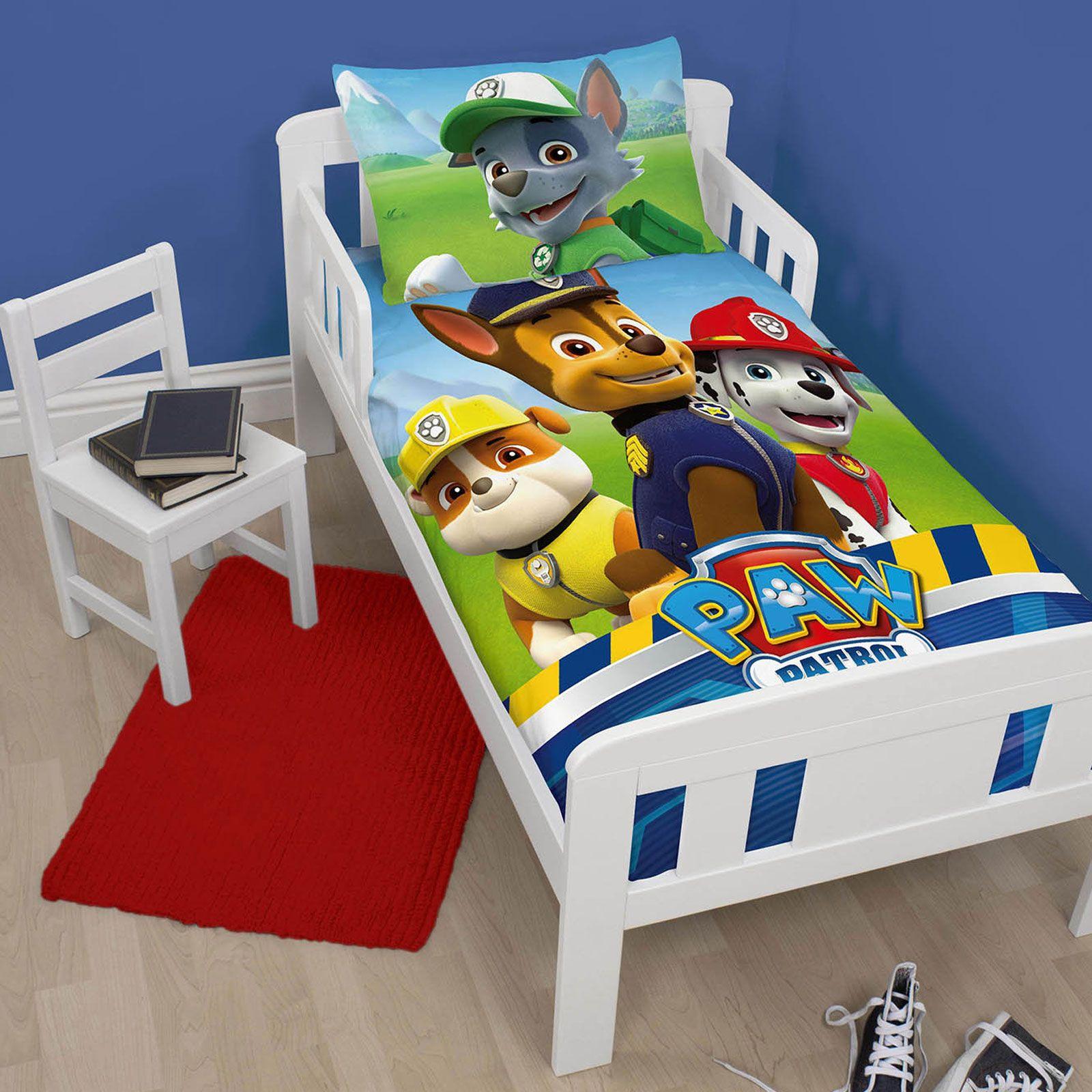 Paw Patrol Junior Toddler Cot Bed Duvet Cover Set New