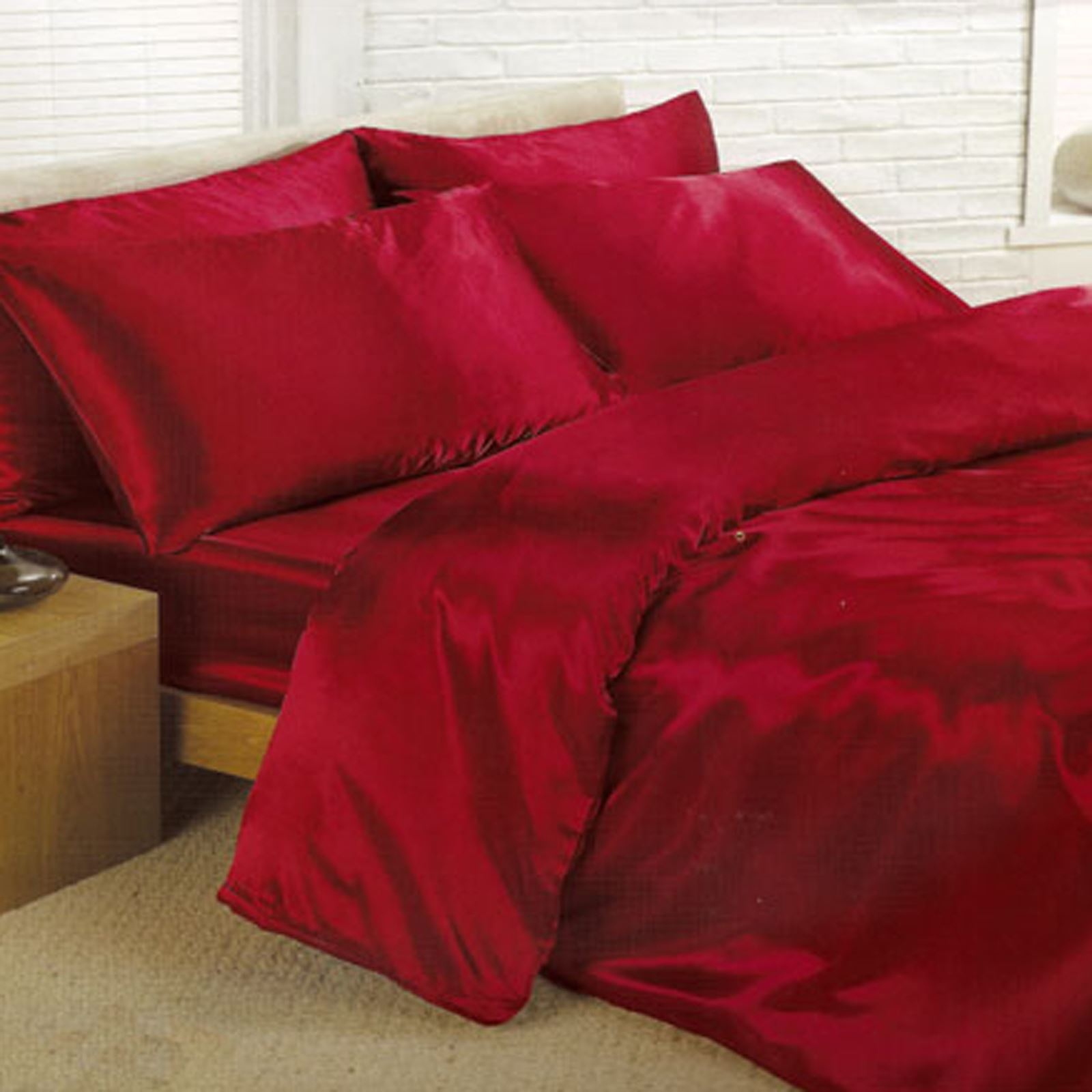 Satin bedding sets 6 piece set duvet cover fitted How to put a fitted sheet on a bed