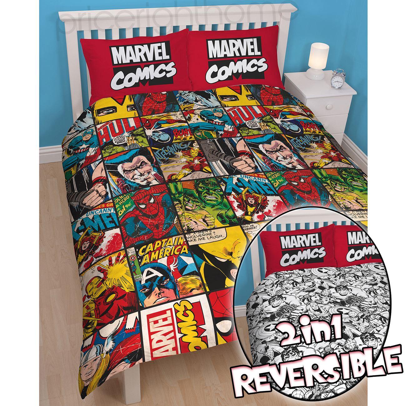 Avengers comic bedding - Oficiales Marvel Comics De Ropa De Cama Y Dormitorio Accesorios Bolsos