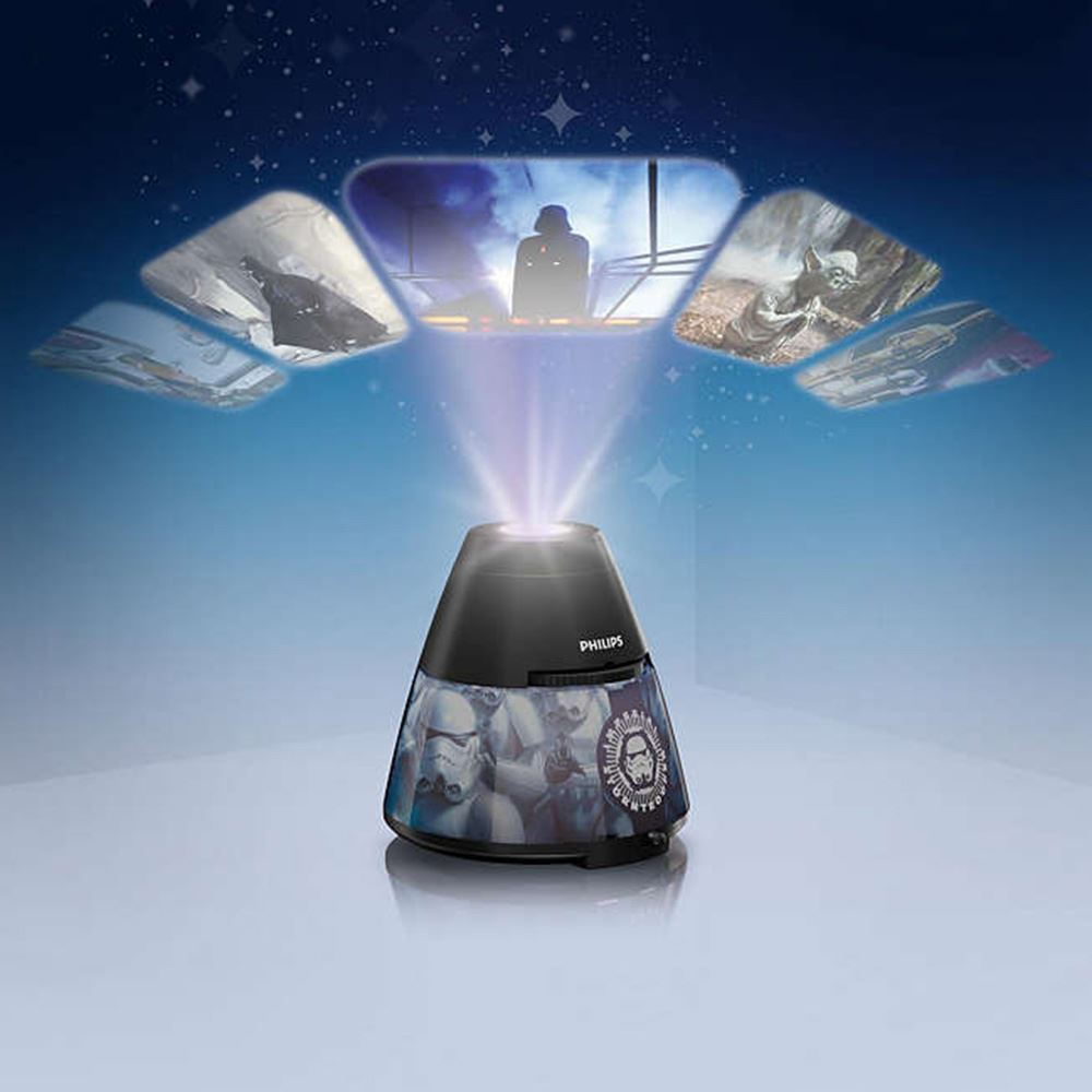 Philips star wars led night light and projector kids for Bedroom night light