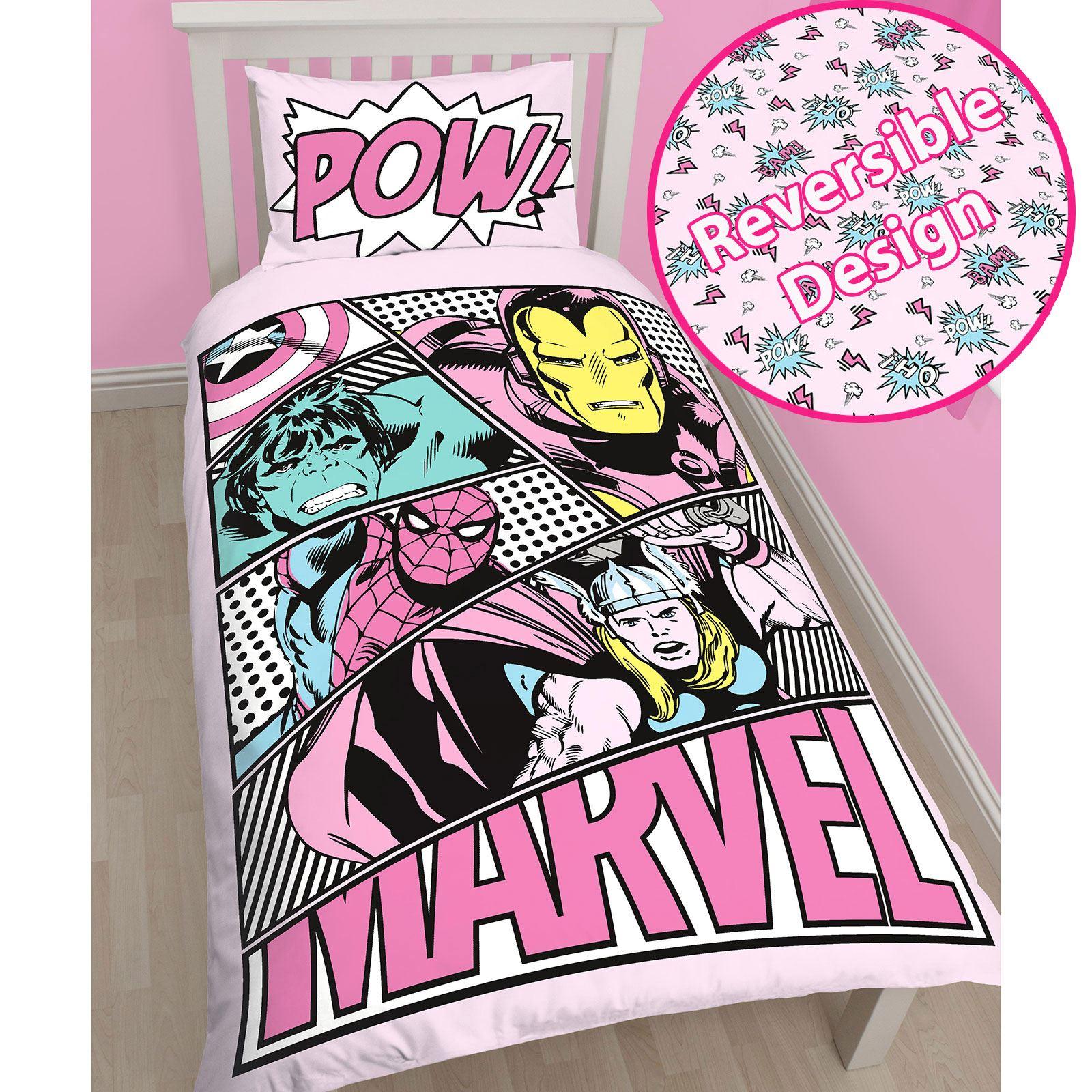 SUPERHERO SINGLE & DOUBLE BEDDING – MARVEL ICS