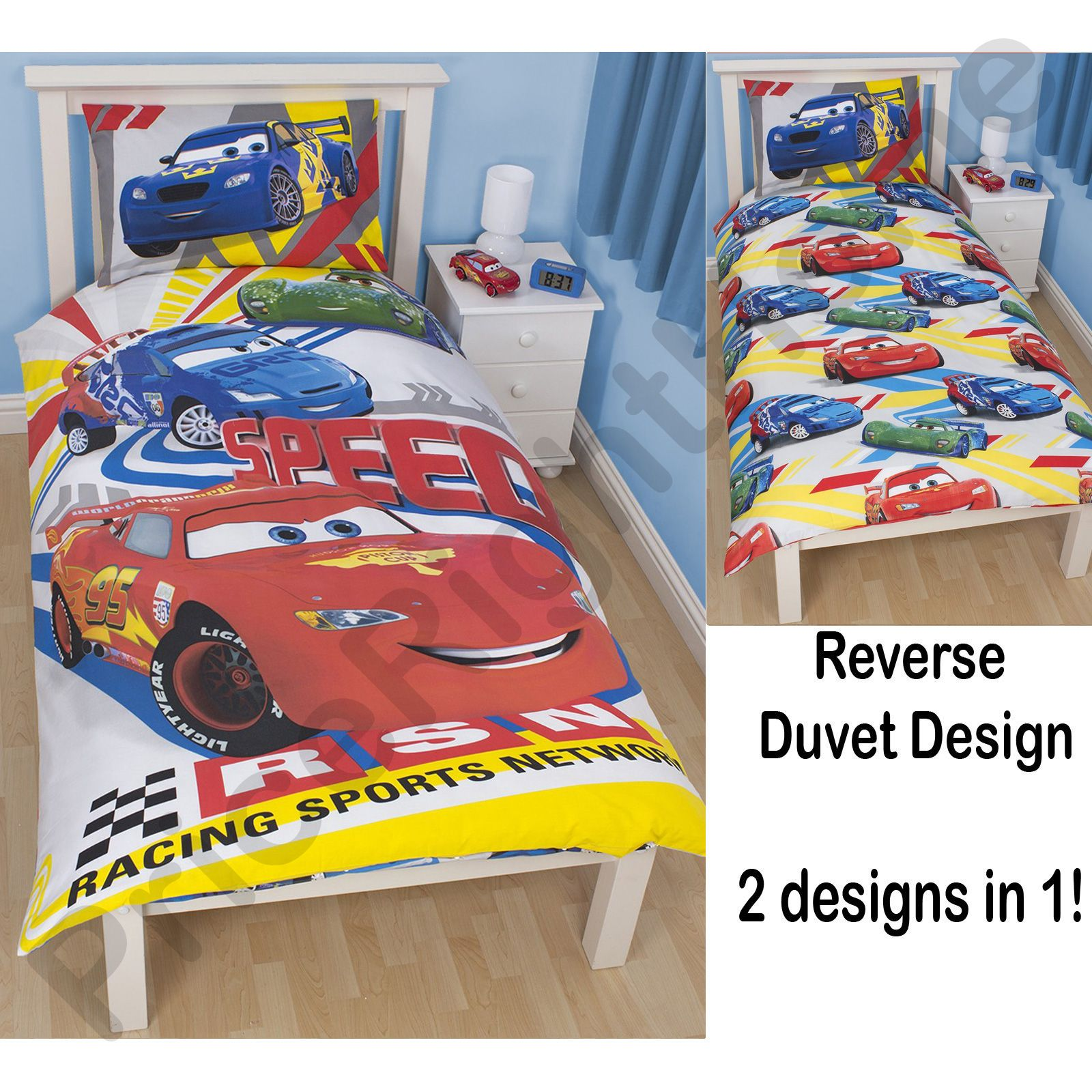 disney cars chambre coucher parure de lit accessoires. Black Bedroom Furniture Sets. Home Design Ideas